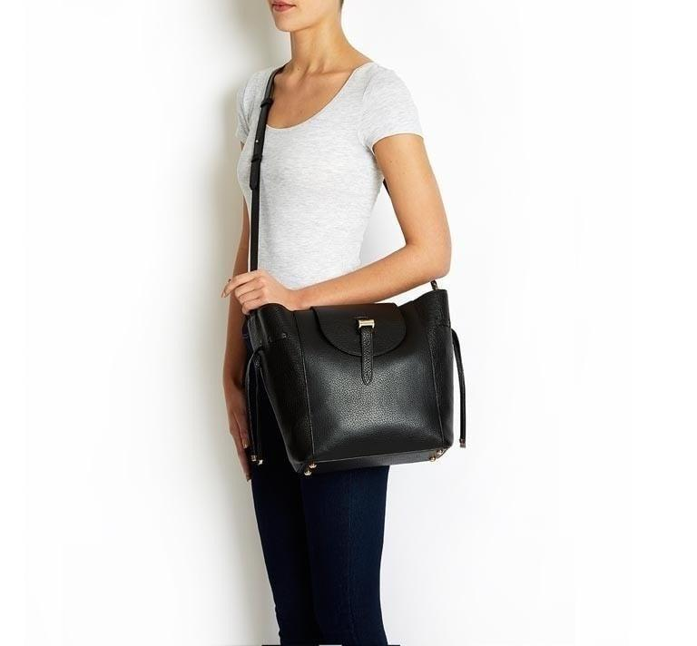 58e4a1764012 Lyst - meli melo Fleming Medium Tote Bag Black Part Woven in Black
