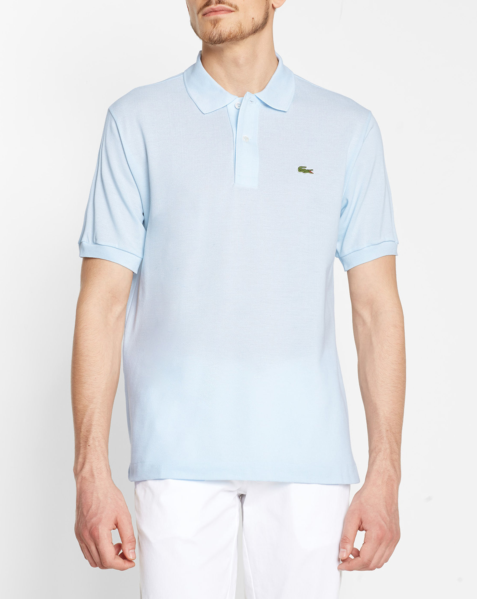 Lacoste original sky blue polo shirt in blue for men for Lacoste poloshirt weiay