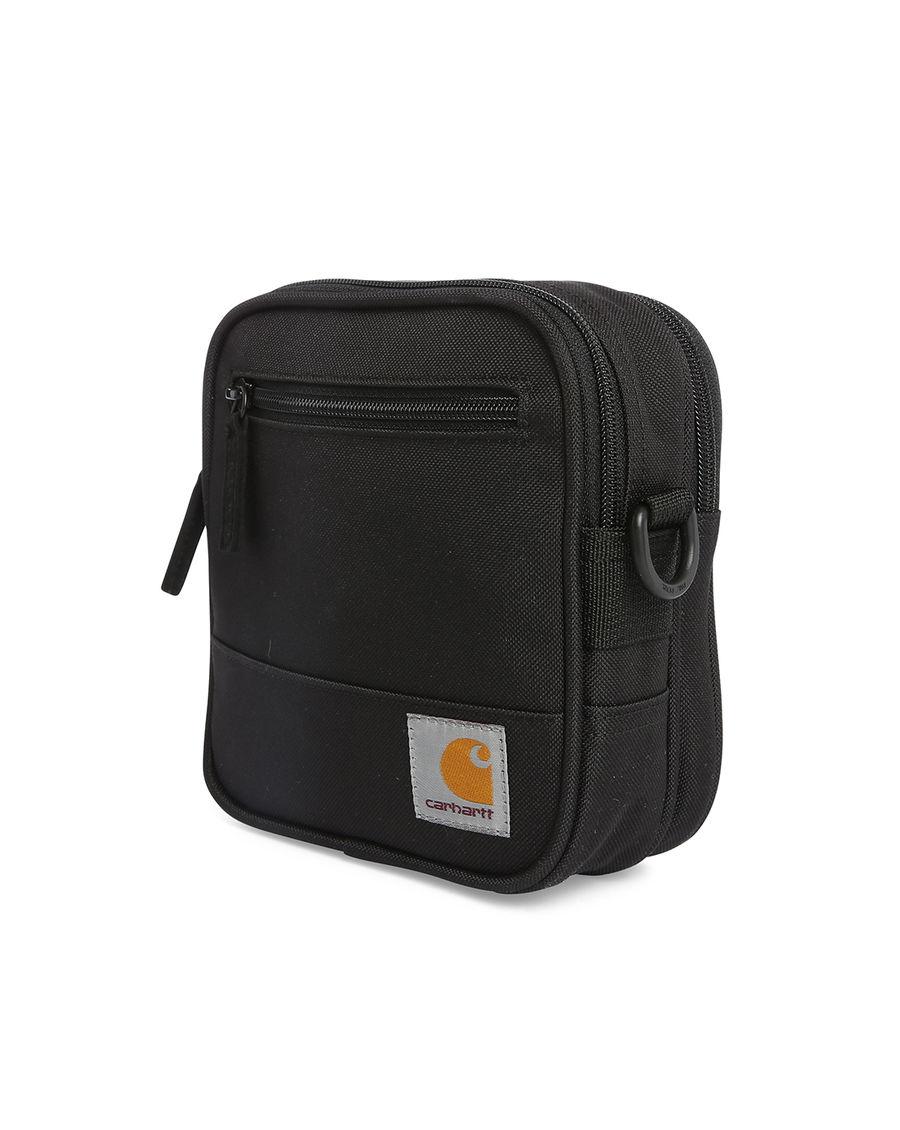 carhartt wip black essentials messenger bag in black for. Black Bedroom Furniture Sets. Home Design Ideas
