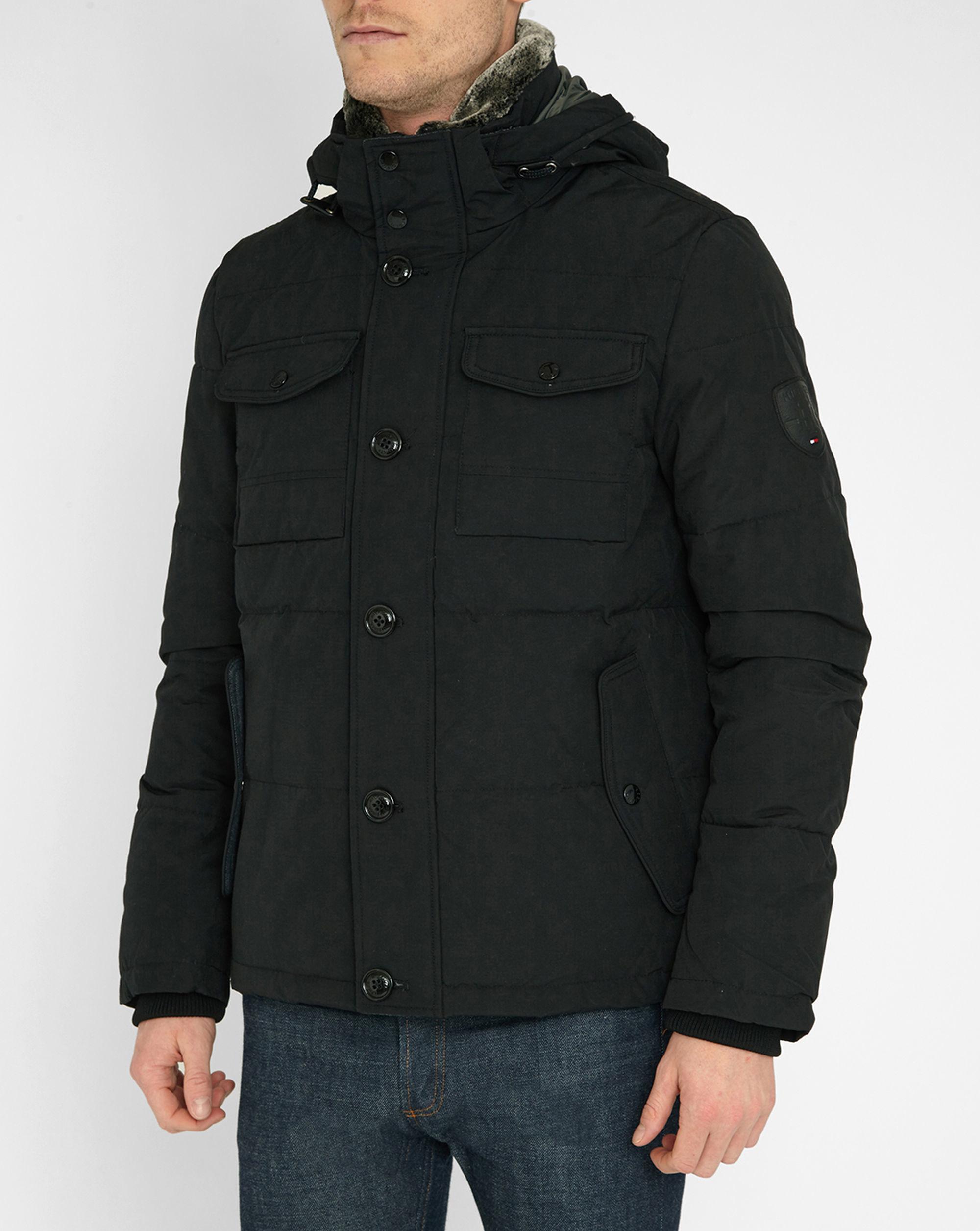 tommy hilfiger black pr sasha winter jacket in black for. Black Bedroom Furniture Sets. Home Design Ideas