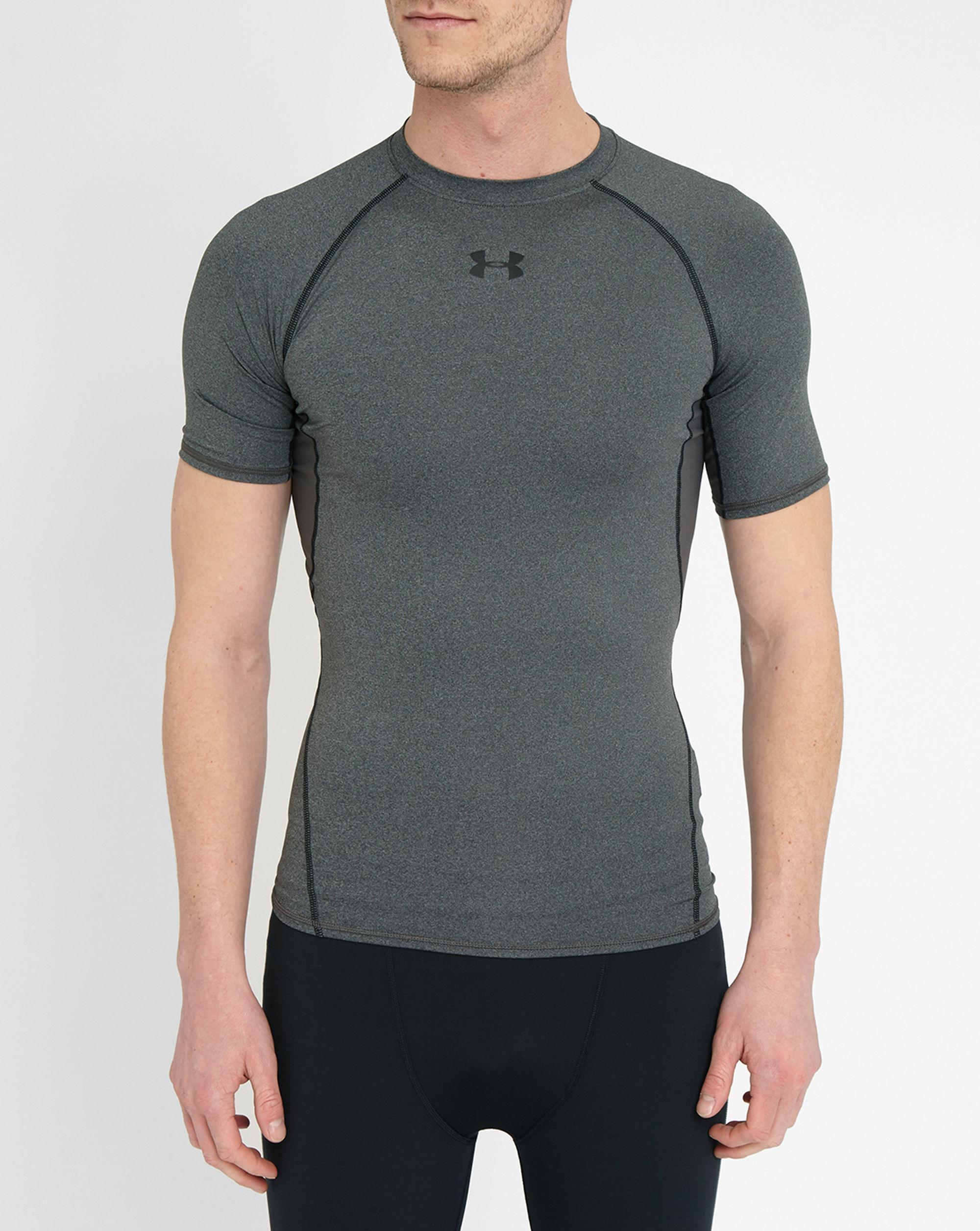 Under Armour Grey Heatgear Compression T Shirt In Gray For