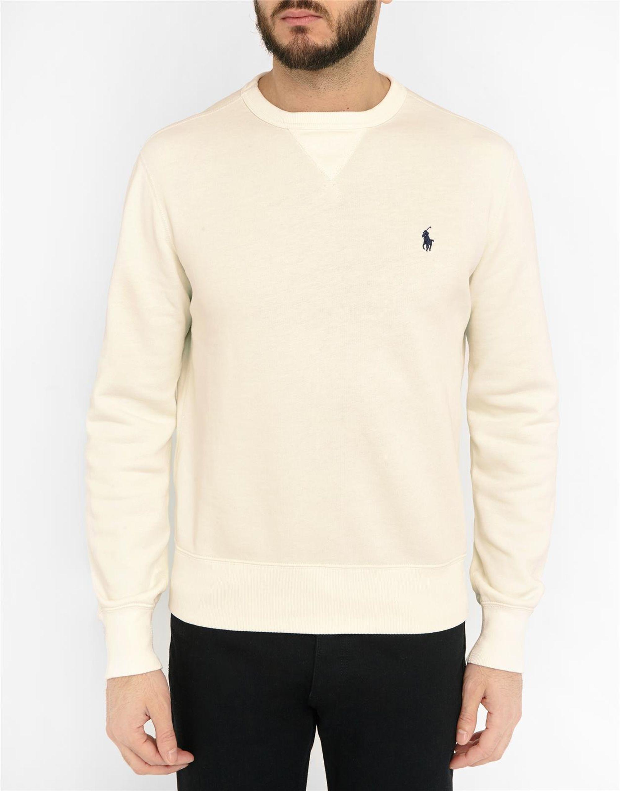 polo ralph lauren off white sweatshirt in white for men lyst. Black Bedroom Furniture Sets. Home Design Ideas
