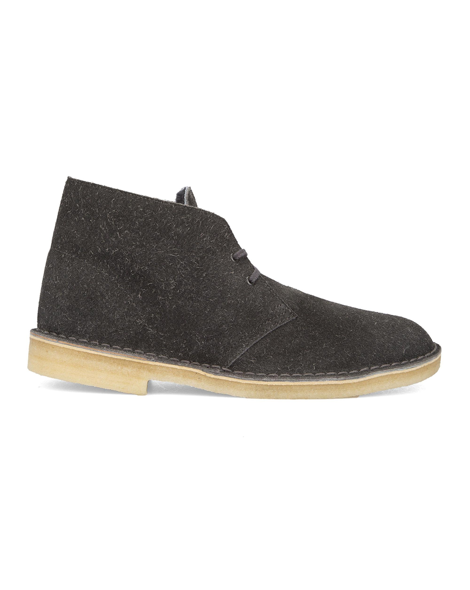 clarks grey suede desert boots in gray for lyst