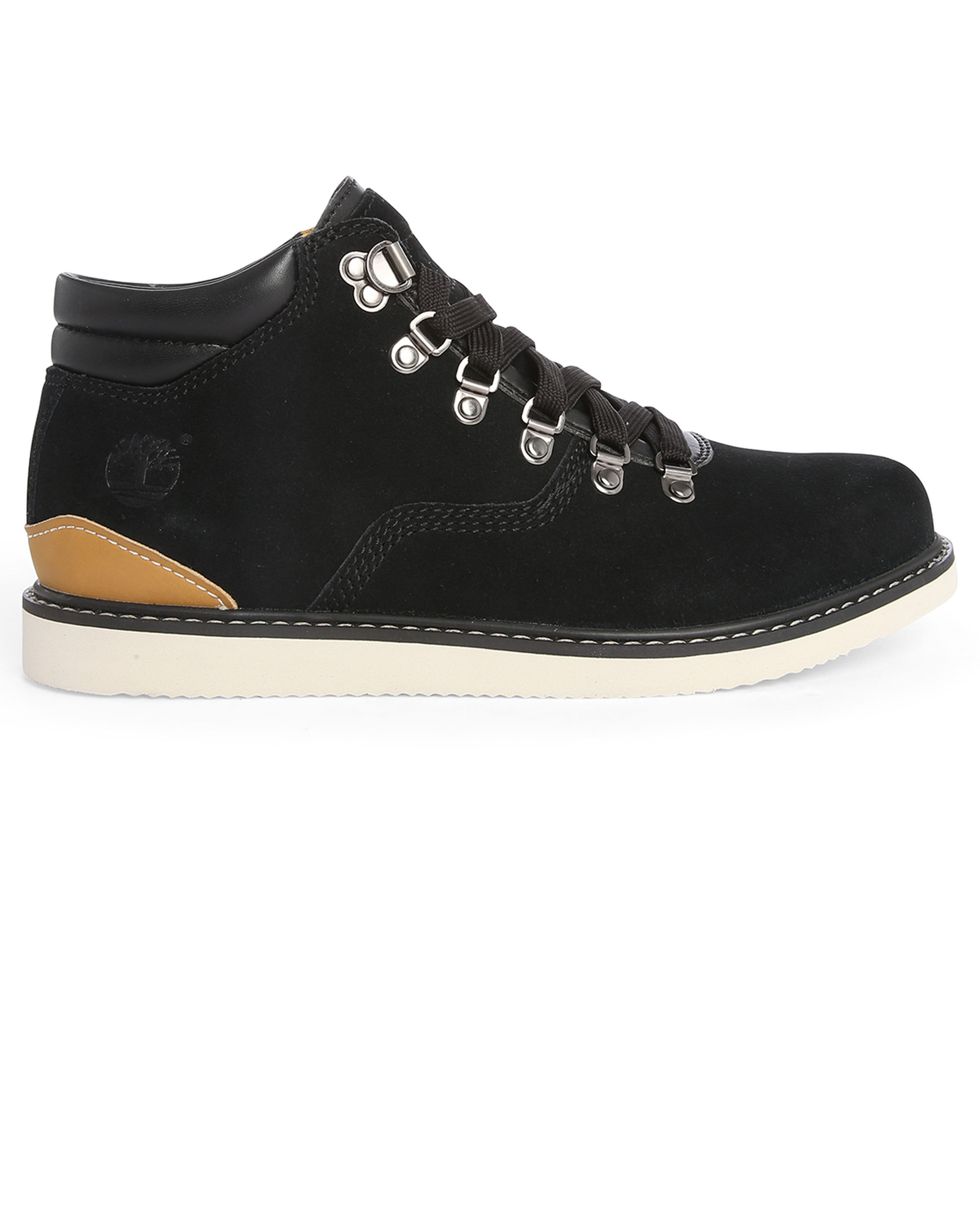timberland black newmarket hiker suede boots in black for