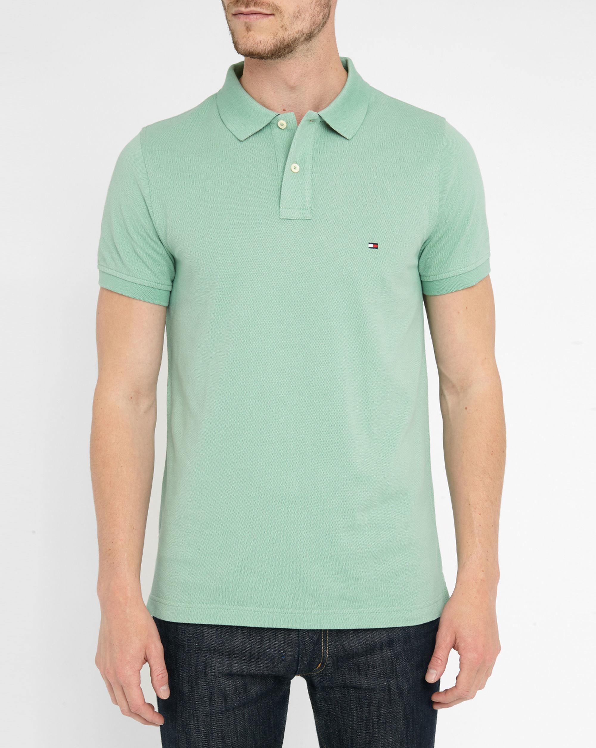 tommy hilfiger aqua pr slim fit polo shirt in green for men lyst. Black Bedroom Furniture Sets. Home Design Ideas