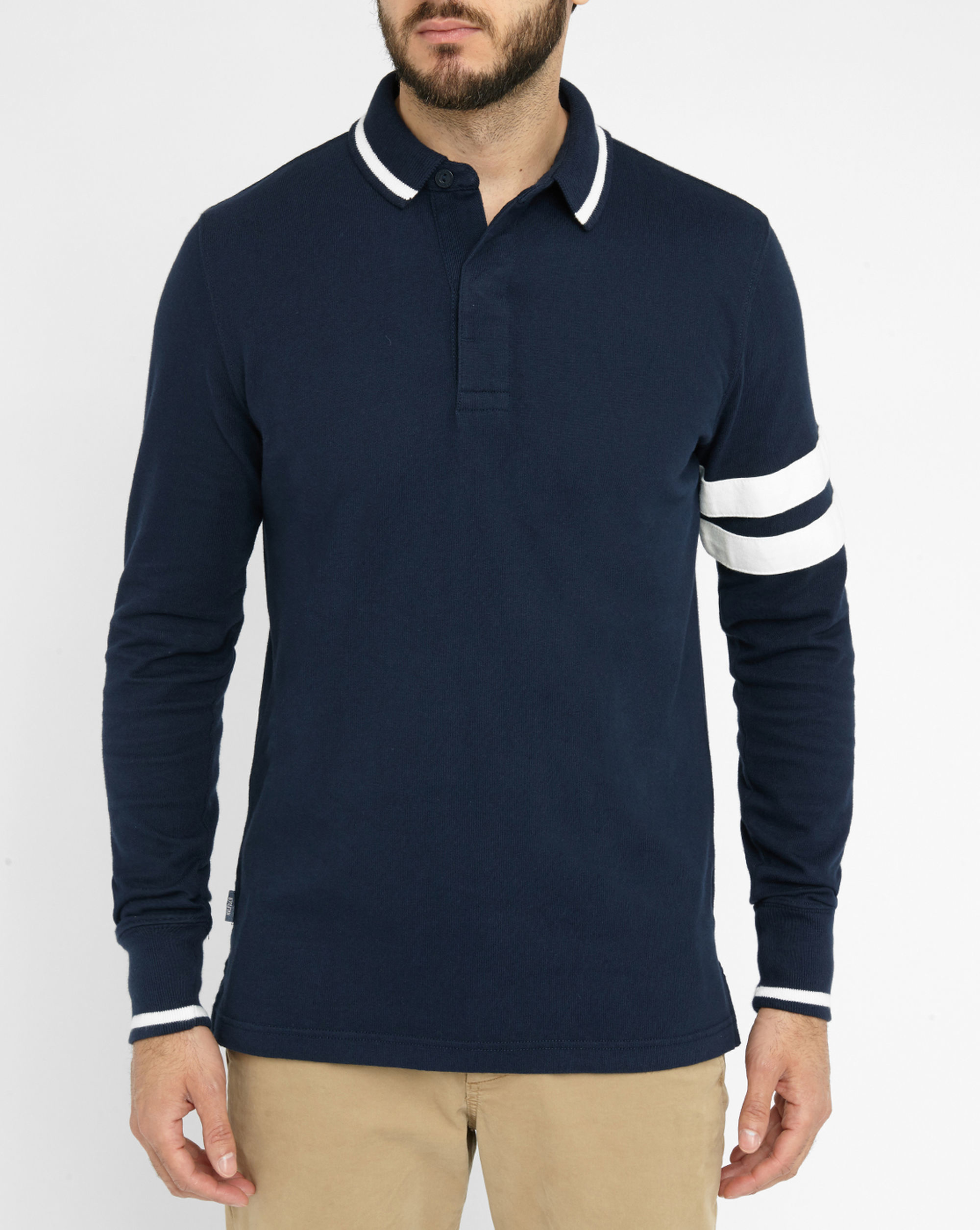 tommy hilfiger navy damen rugby pr polo shirt in blue for men lyst. Black Bedroom Furniture Sets. Home Design Ideas