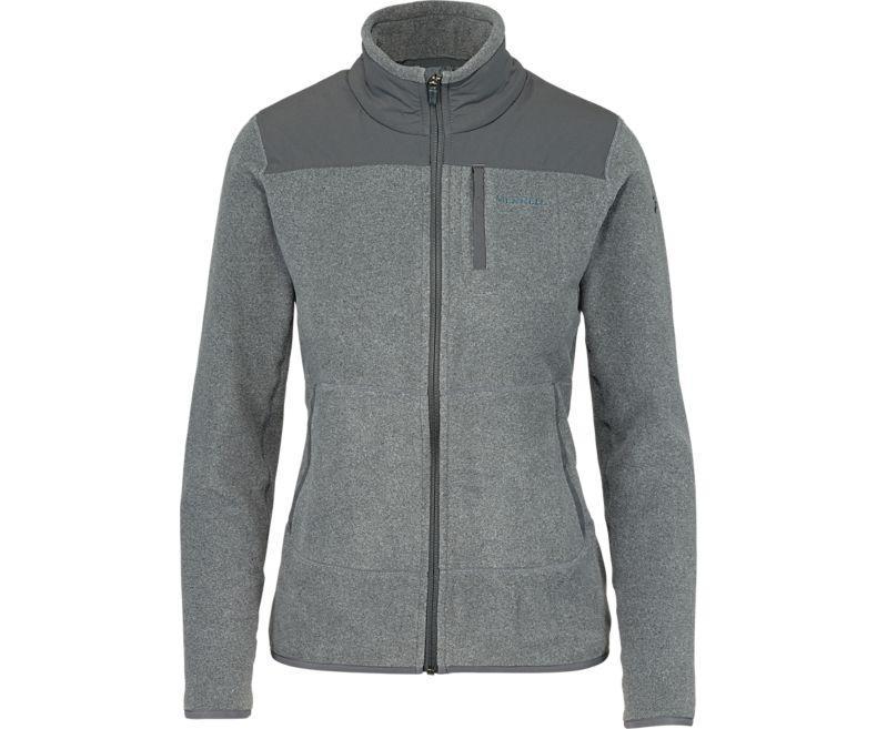 Lyst - Merrell Flux Mid-weight Hybrid Full-zip Polar Fleece in Gray 929a2833ab