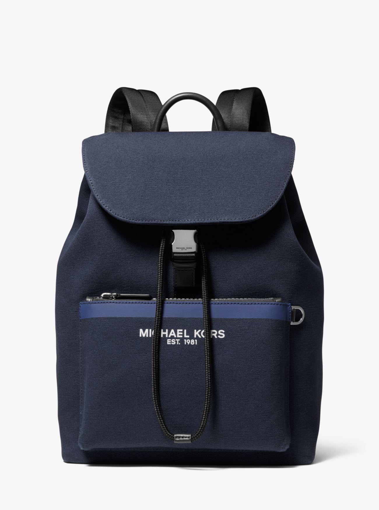 1729e55c9835 Michael Kors - Blue Greyson Canvas Backpack for Men - Lyst. View fullscreen