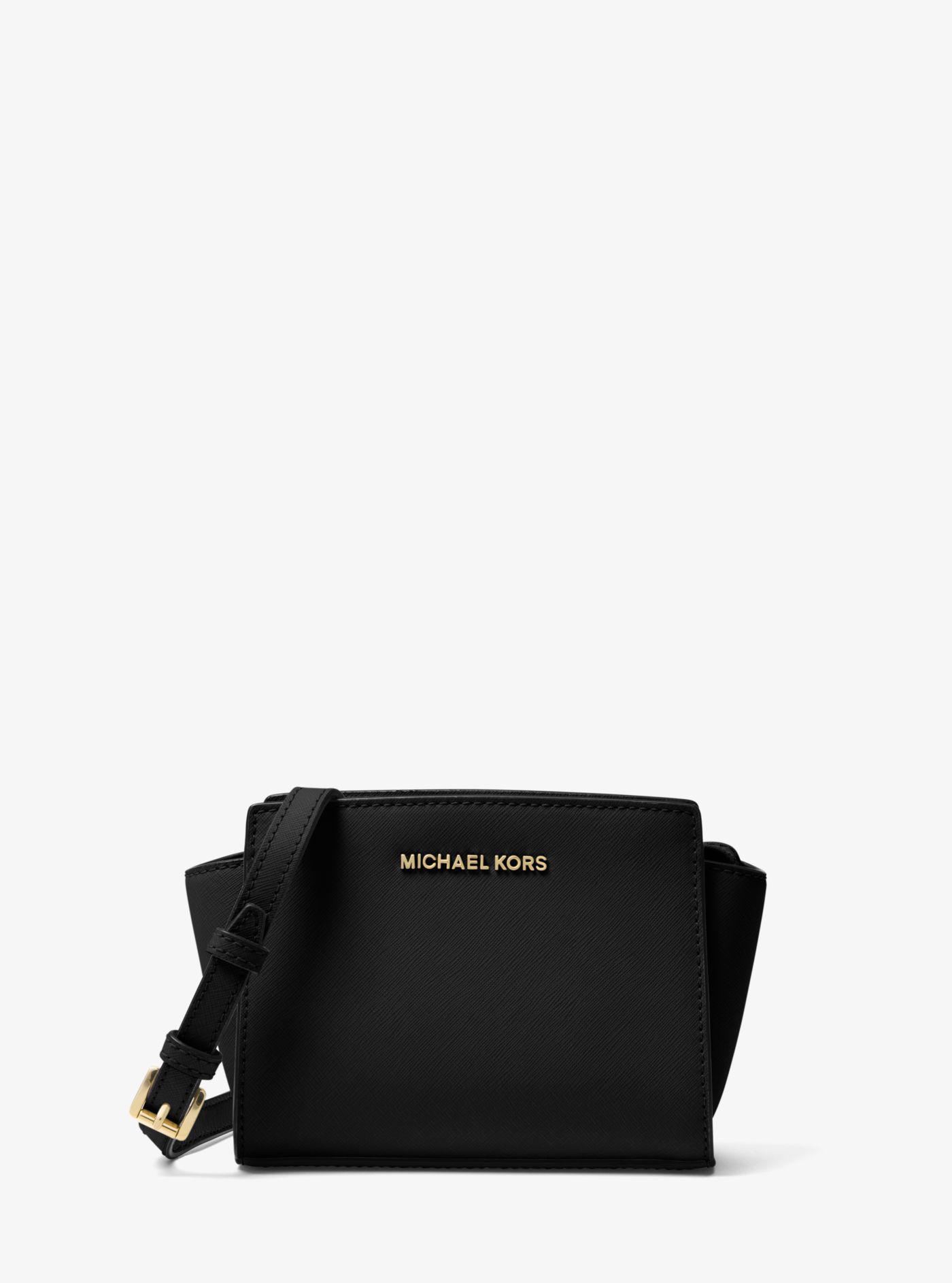 Michael Kors - Black Selma Mini Saffiano Leather Crossbody - Lyst. View  fullscreen 63a3aa13da563