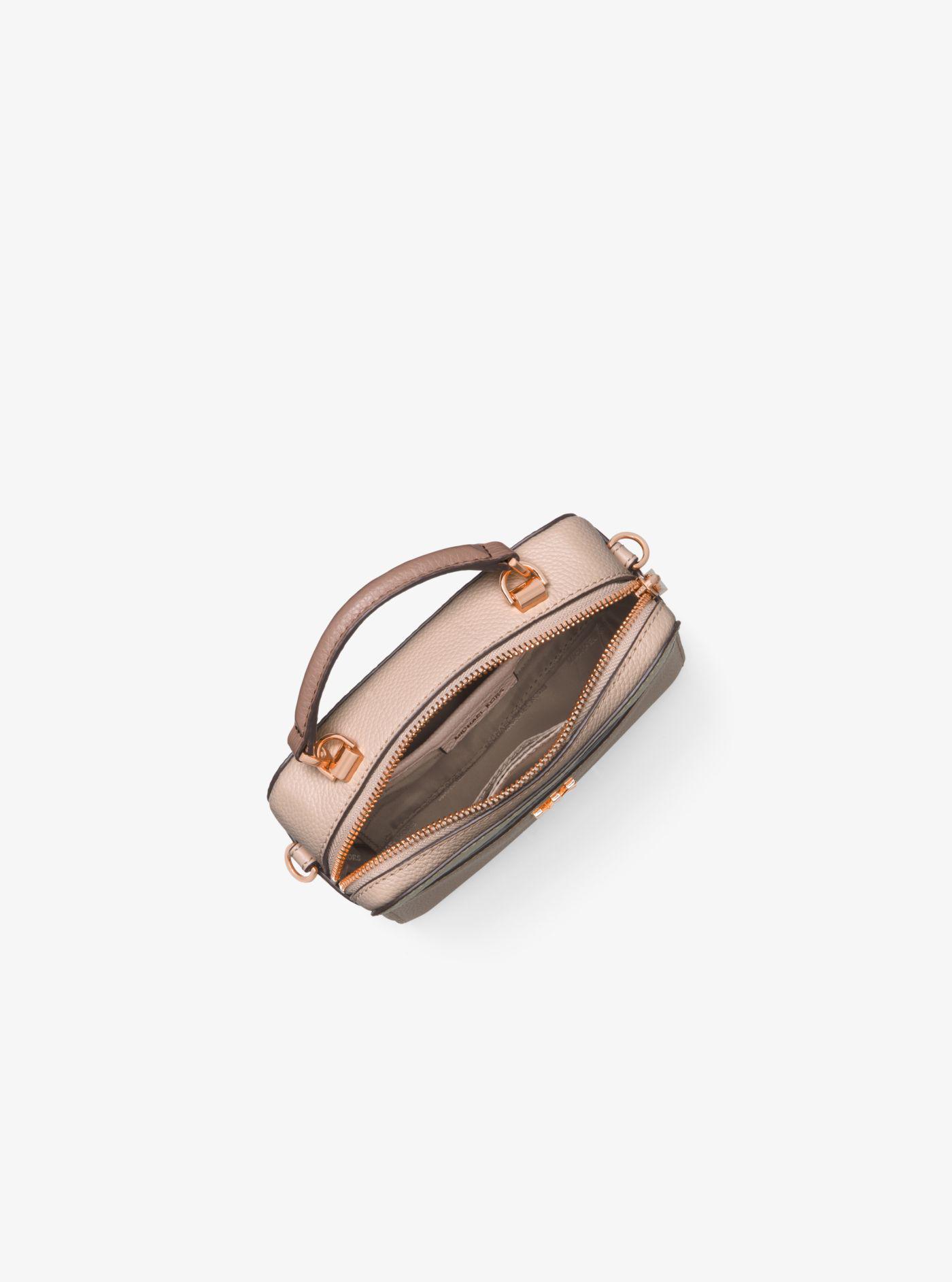 60479cef7955 Michael Kors Mott Mini Color-block Pebbled Leather Crossbody - Lyst