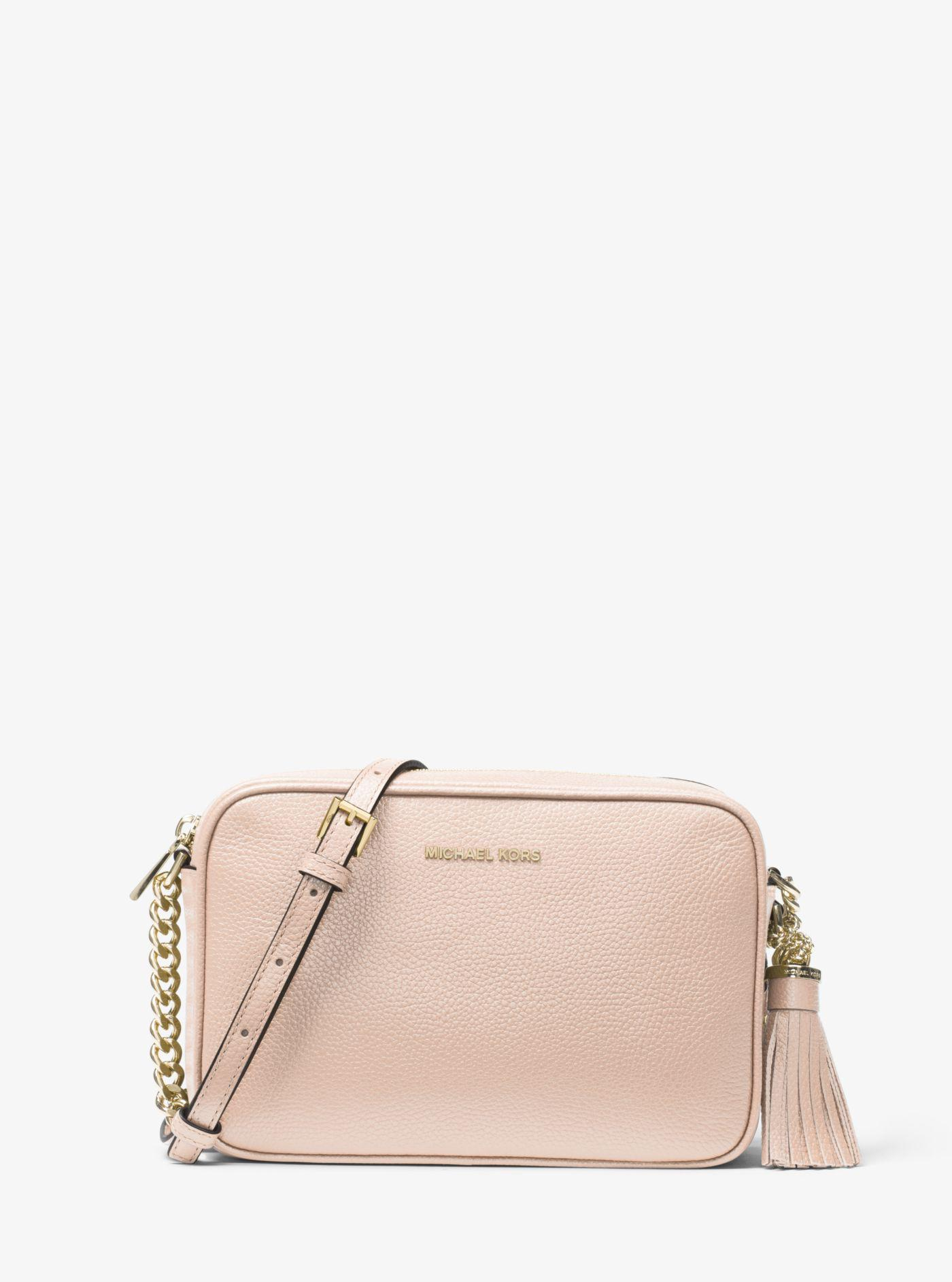 47bd885ac2c1 Michael Kors - Pink Ginny Leather Crossbody - Lyst. View fullscreen