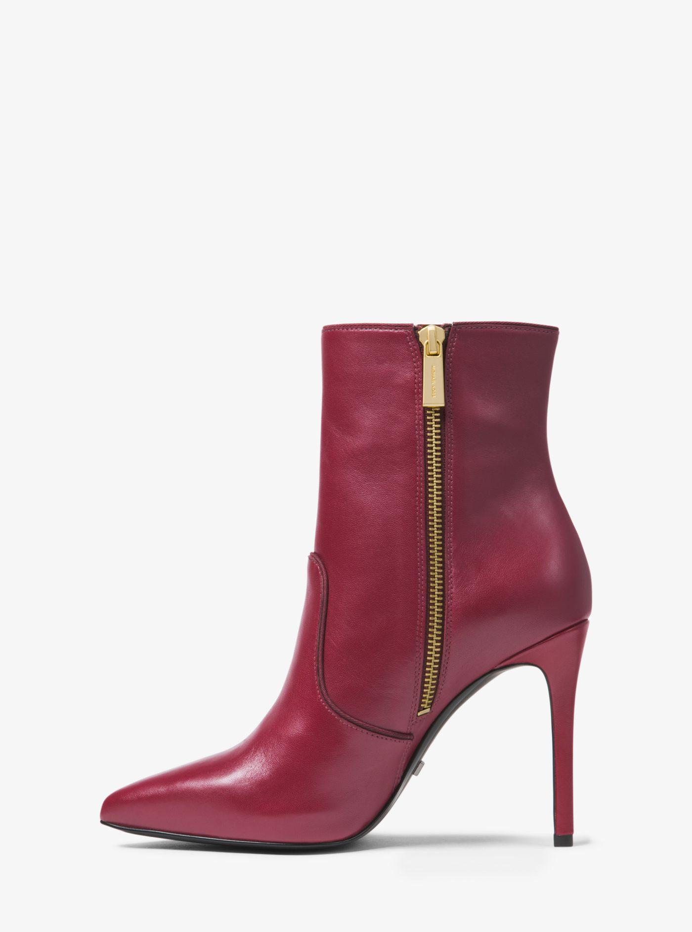 Michael Kors Blaine Leather Ankle Boot