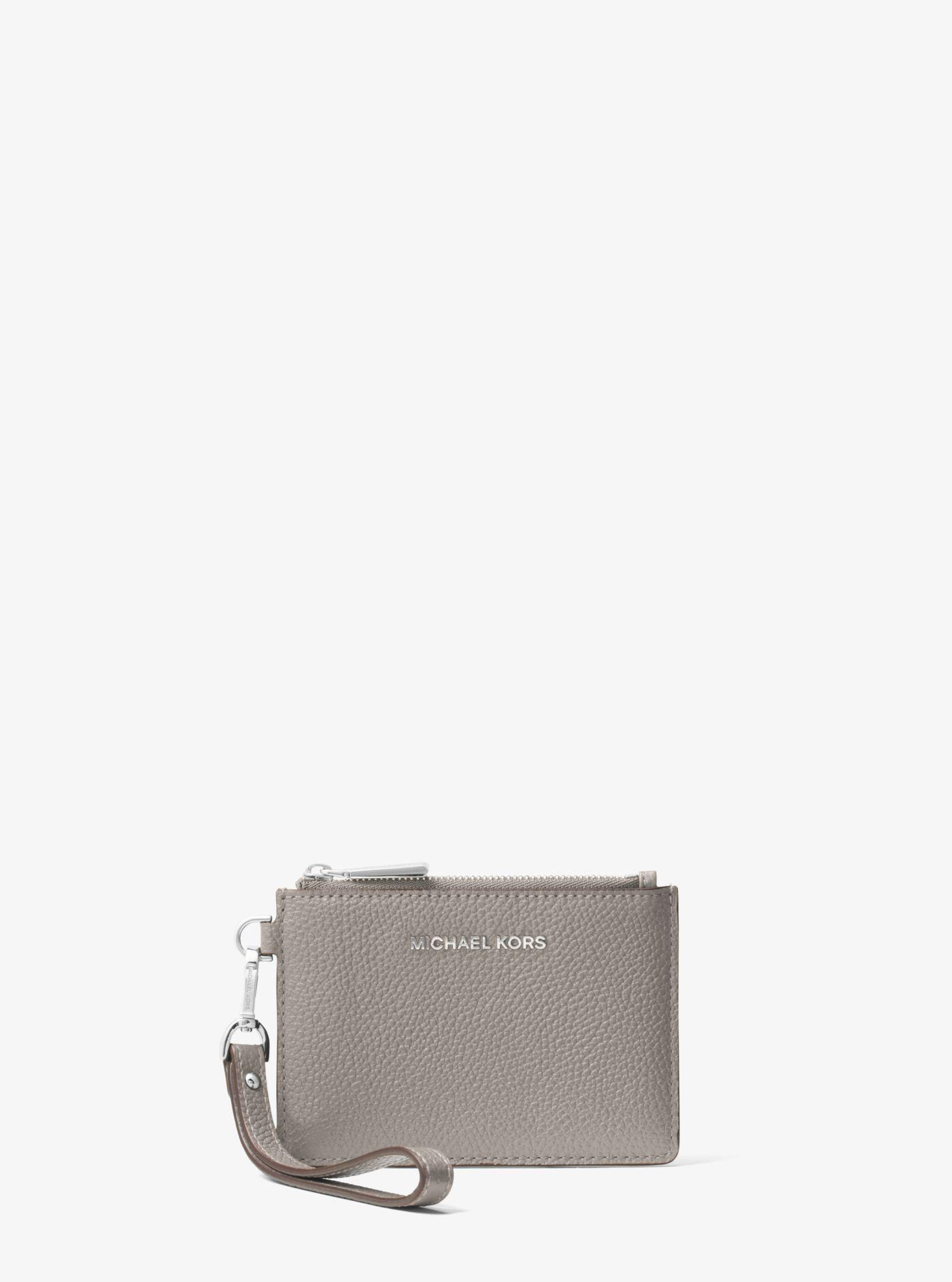 michael kors mercer small leather coin purse in gray lyst. Black Bedroom Furniture Sets. Home Design Ideas
