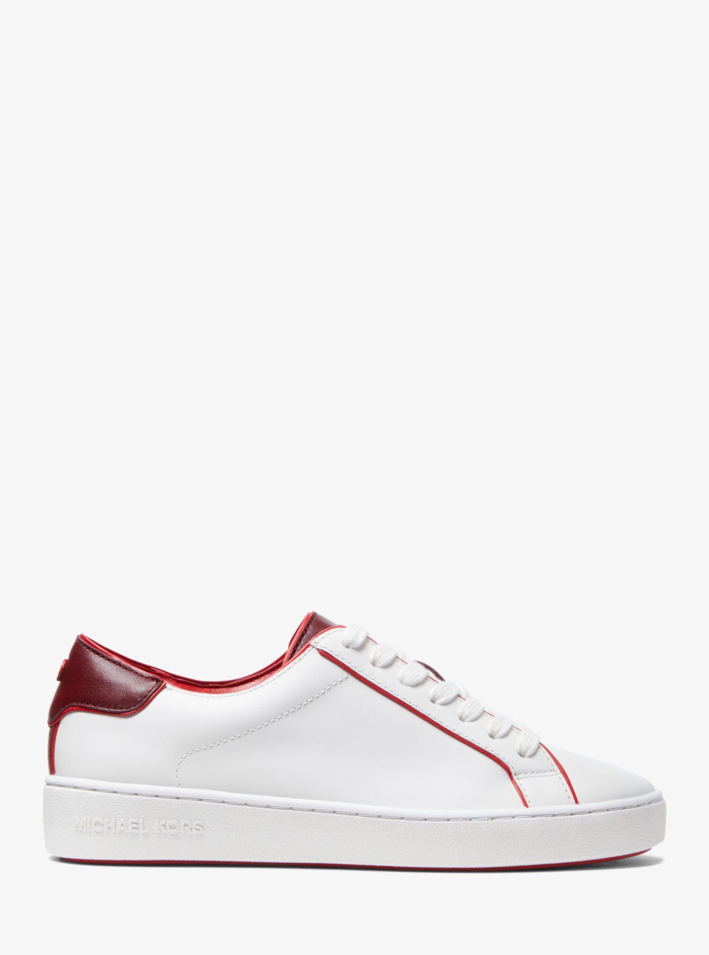 Michael Kors Harper Leather Sneaker - Lyst