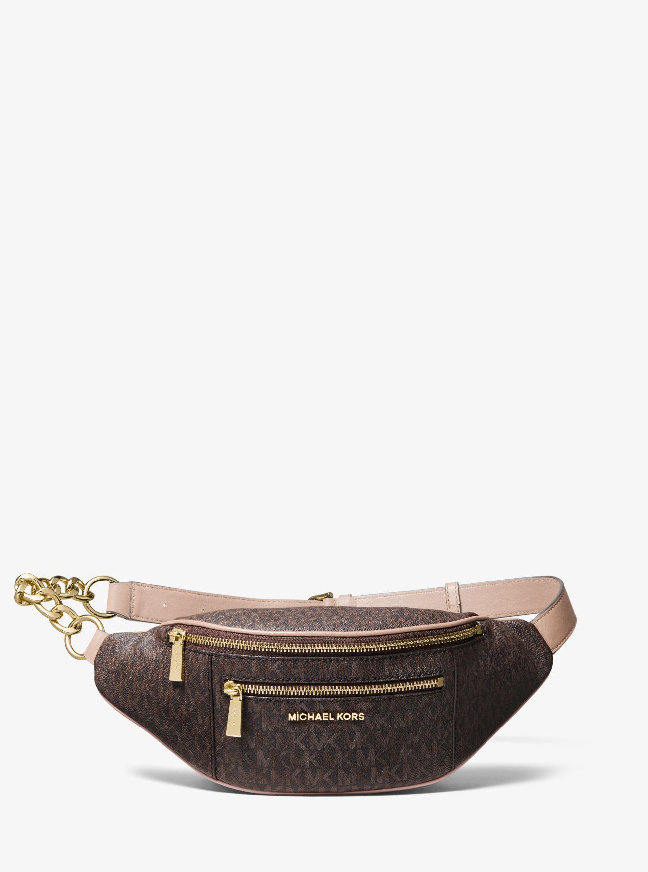 73d8215a726 Lyst - MICHAEL Michael Kors Medium Logo Belt Bag in Brown