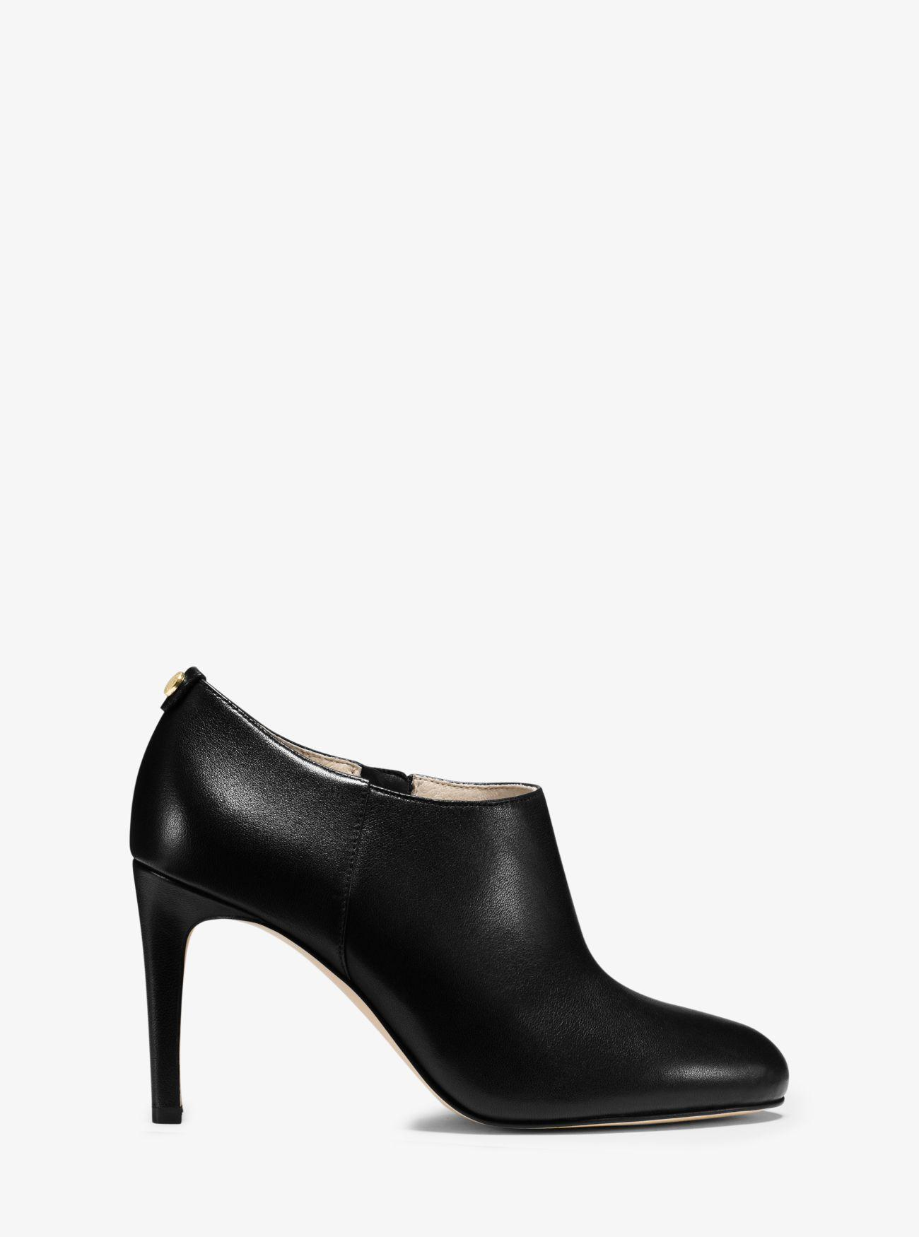 Michael Kors Sammy Leather Ankle Boot in Black
