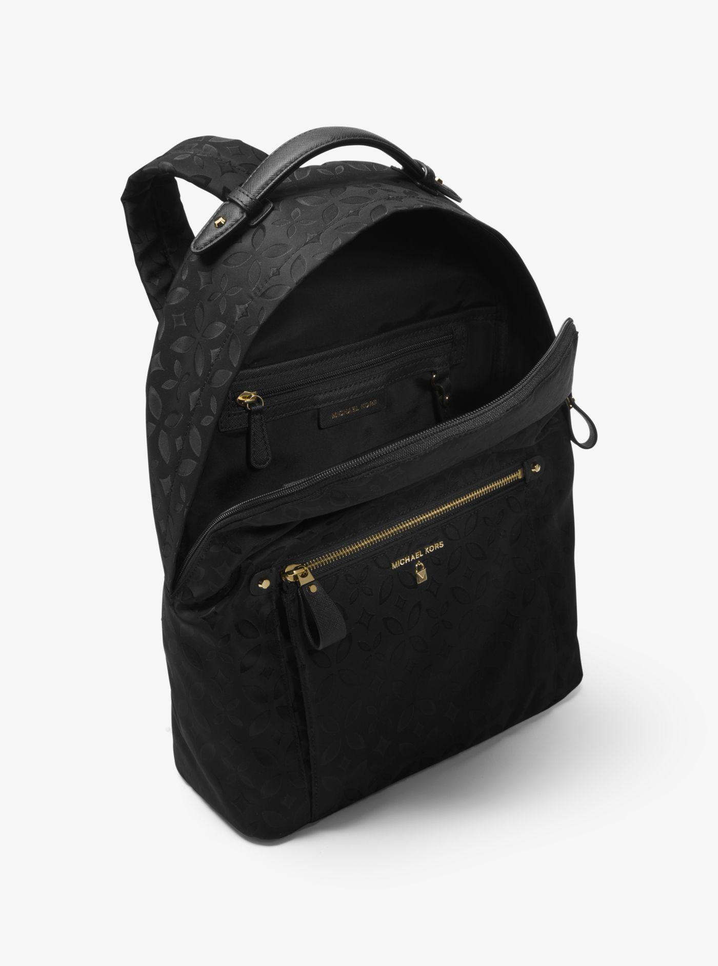 fee8e903e3c7e Lyst - Michael Kors Michael Nylon Kelsey Signature Backpack in Black