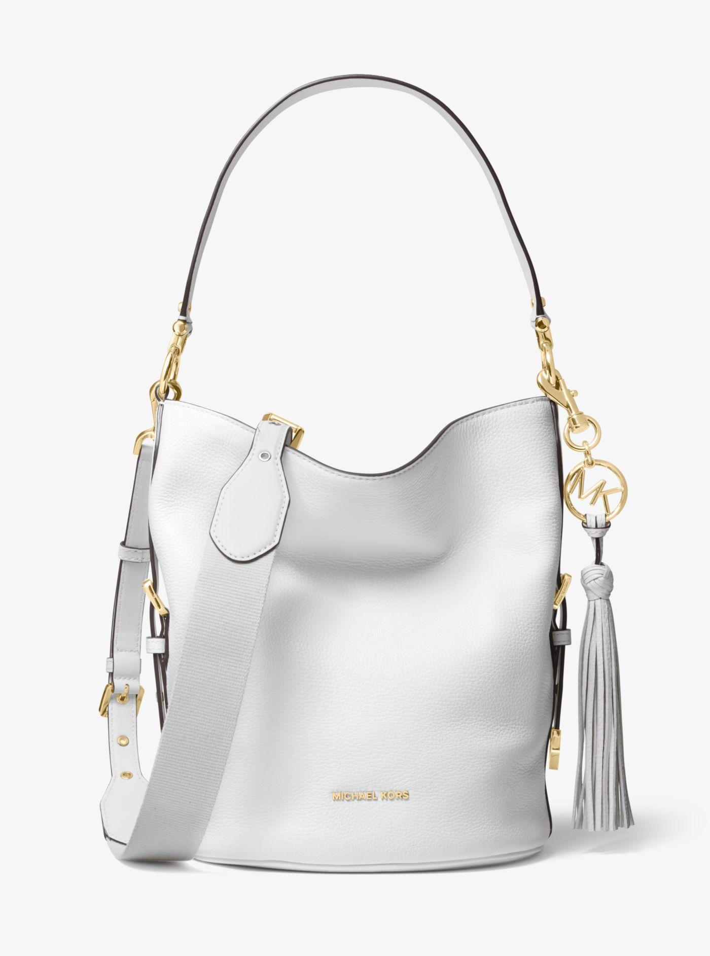 Brooke Medium Pebbled Leather Bucket Bag