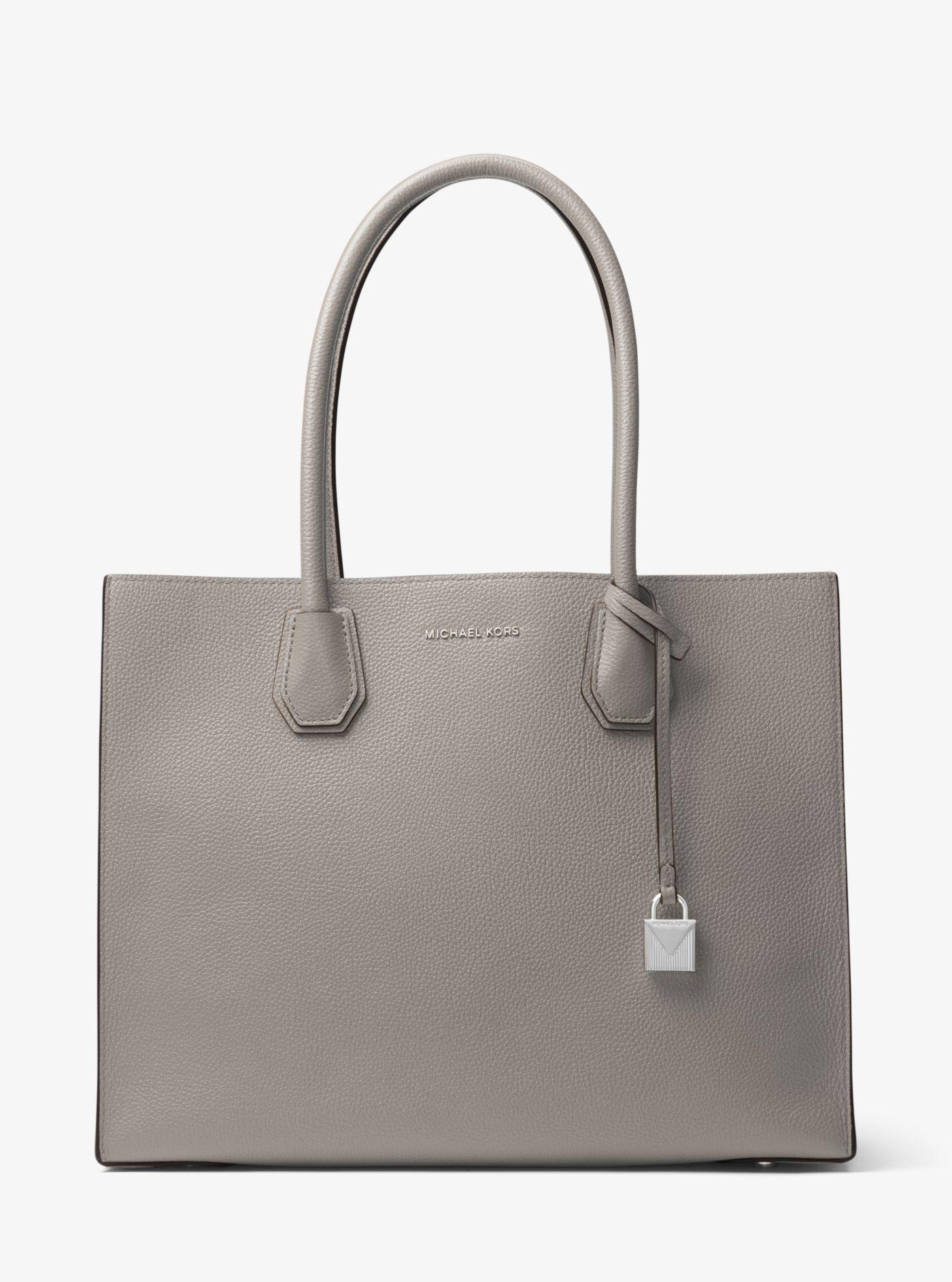 32270efbd996 Lyst - Michael Kors Mercer Extra-large Leather Tote in Gray