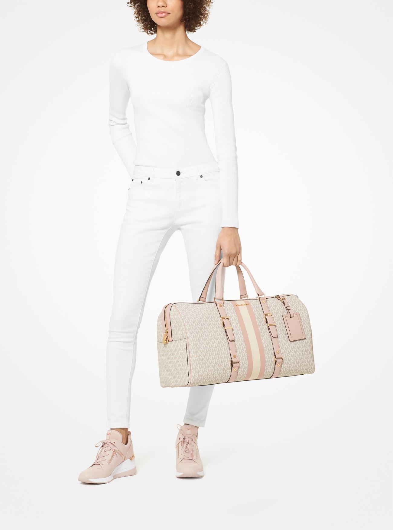 Extra Large Logo Stripe Weekender Bag