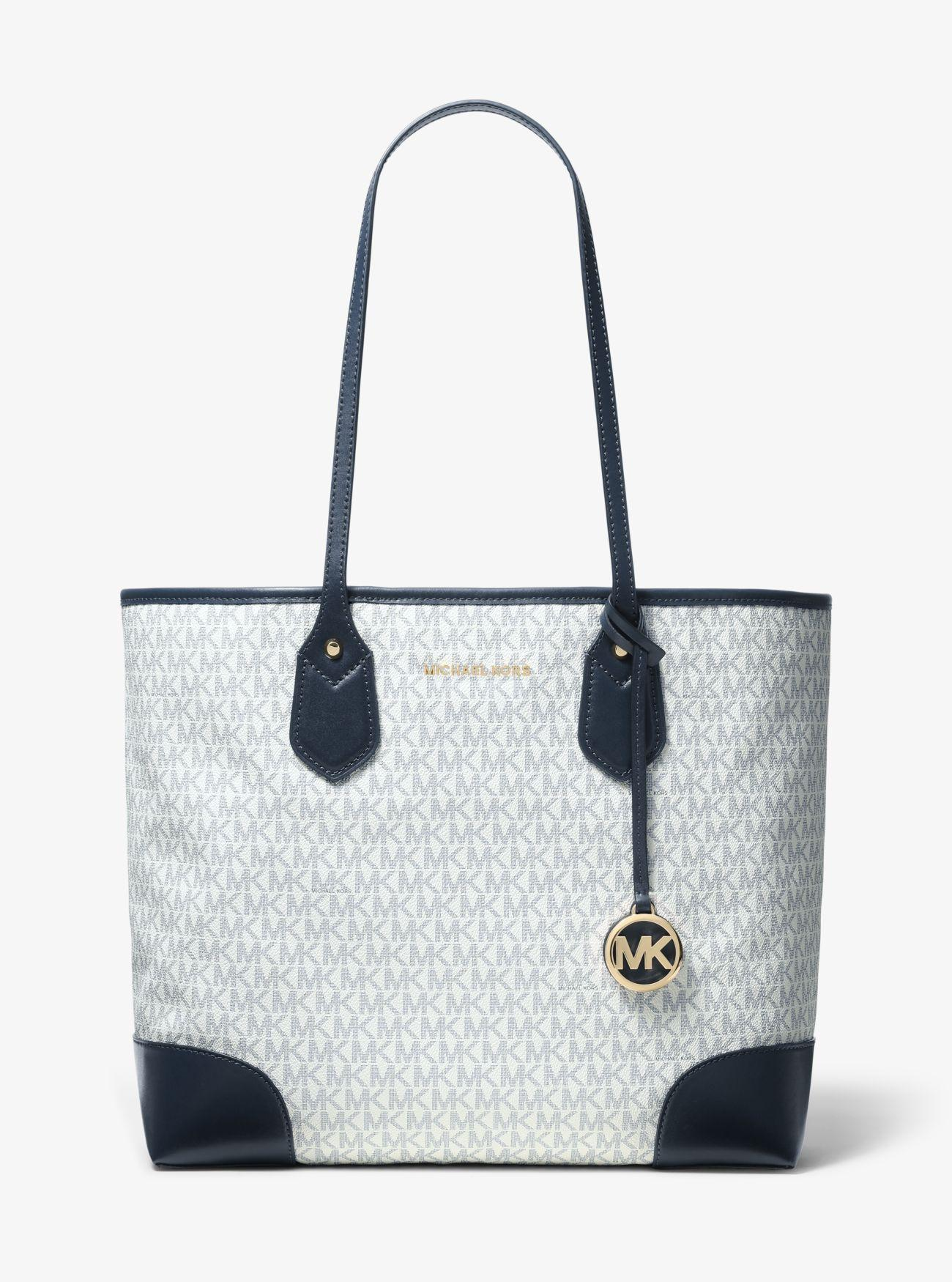e4c5c26a3b2f6d Michael Kors Eva Large Logo Tote Bag in Blue - Lyst