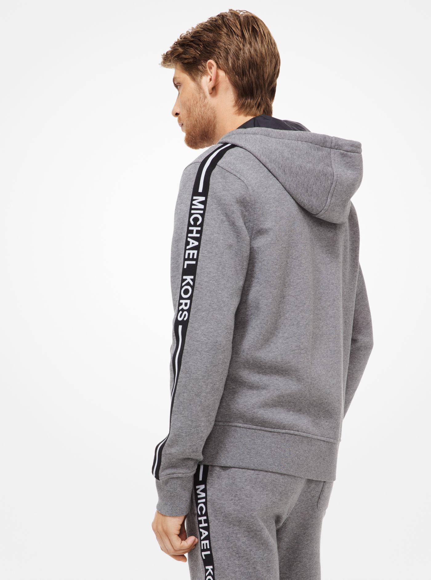 b31e6a1f221b3 Michael Kors - Gray Fleece Zip-up Hoodie for Men - Lyst. View fullscreen