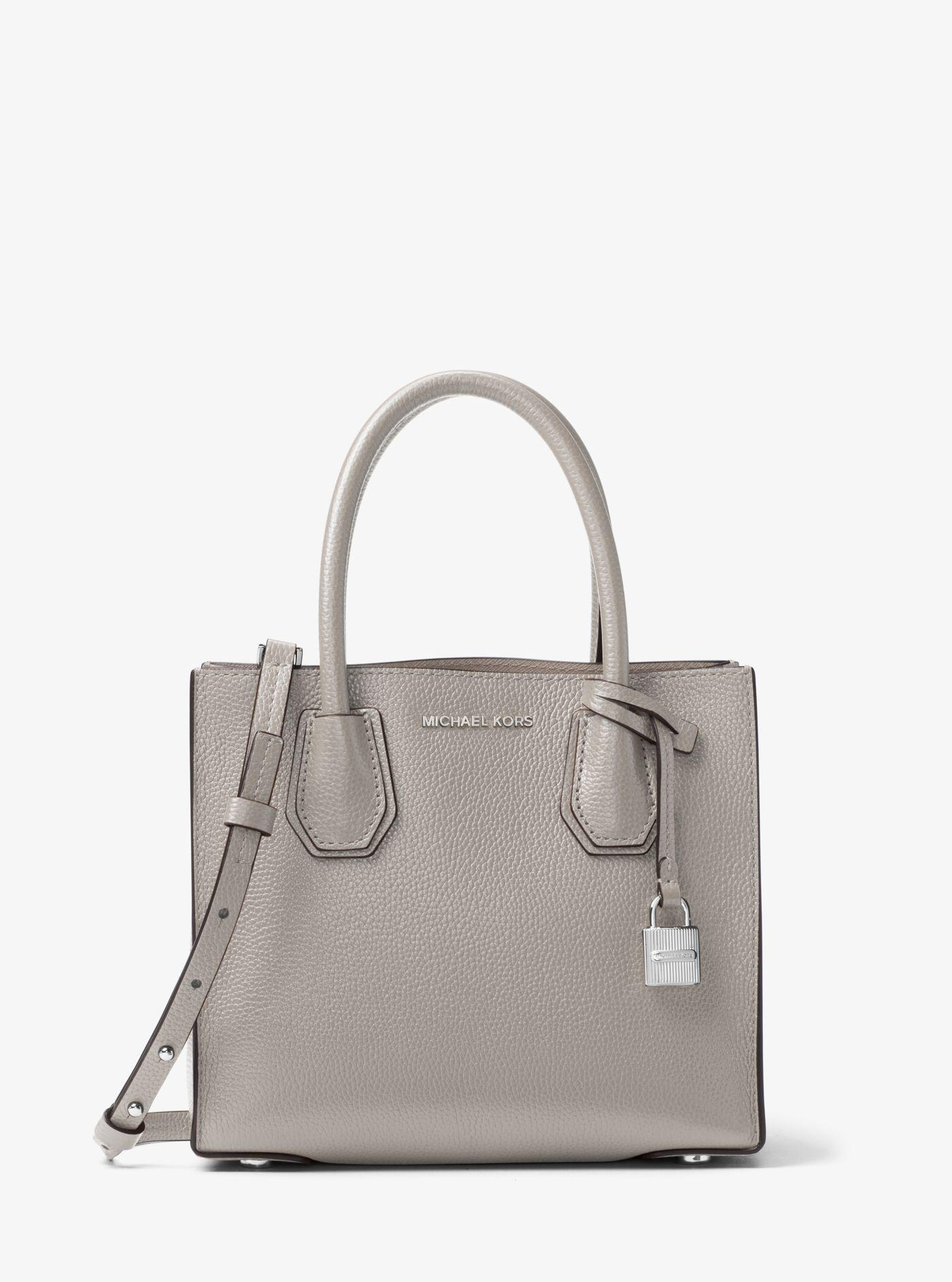 4d47c3f66473 ... cheap michael kors gray mercer medium leather cross body bag lyst. view  fullscreen 80aec 29e13