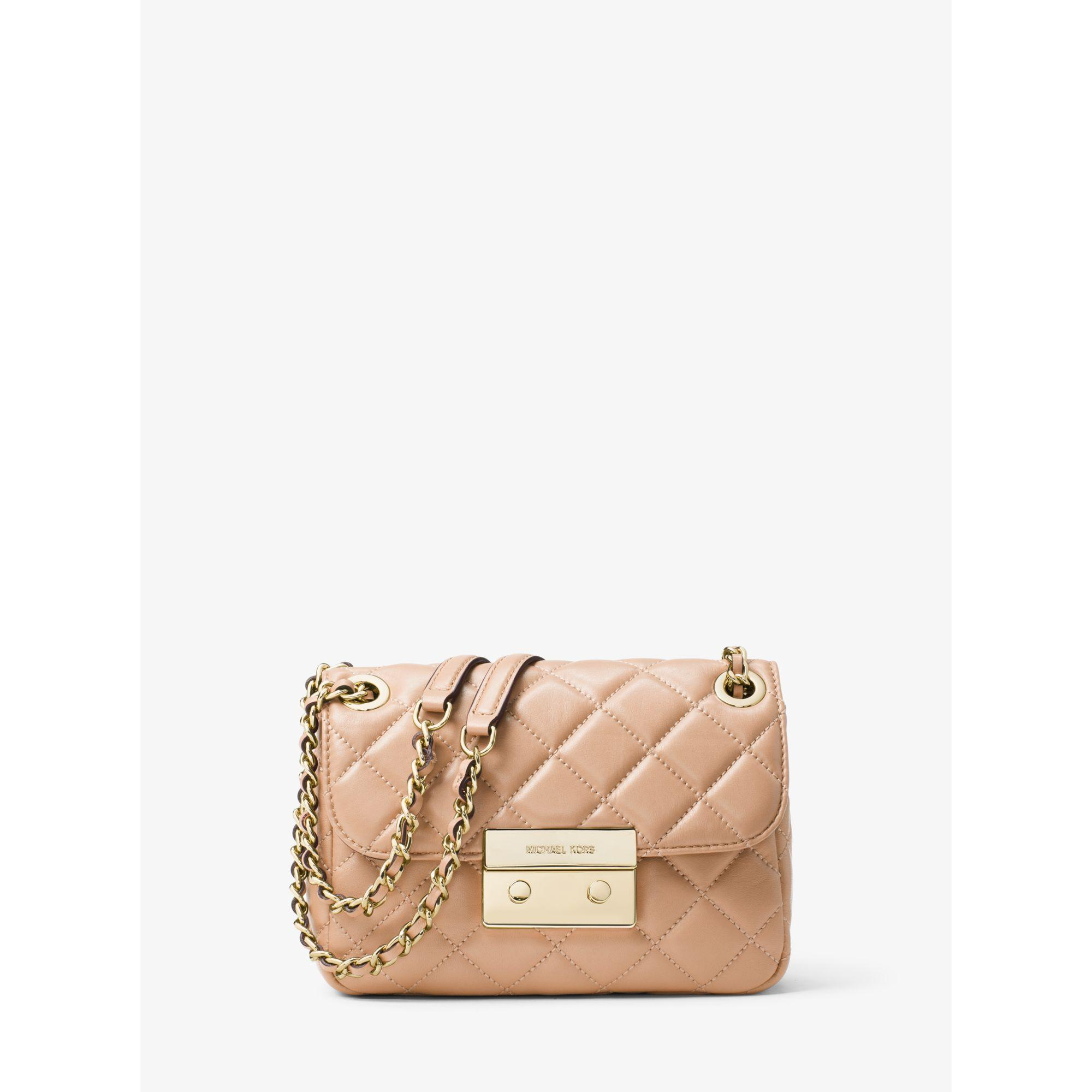 bd49a6c48a67d2 Michael Kors Sloan Small Quilted-Leather Shoulder Bag in Pink - Lyst