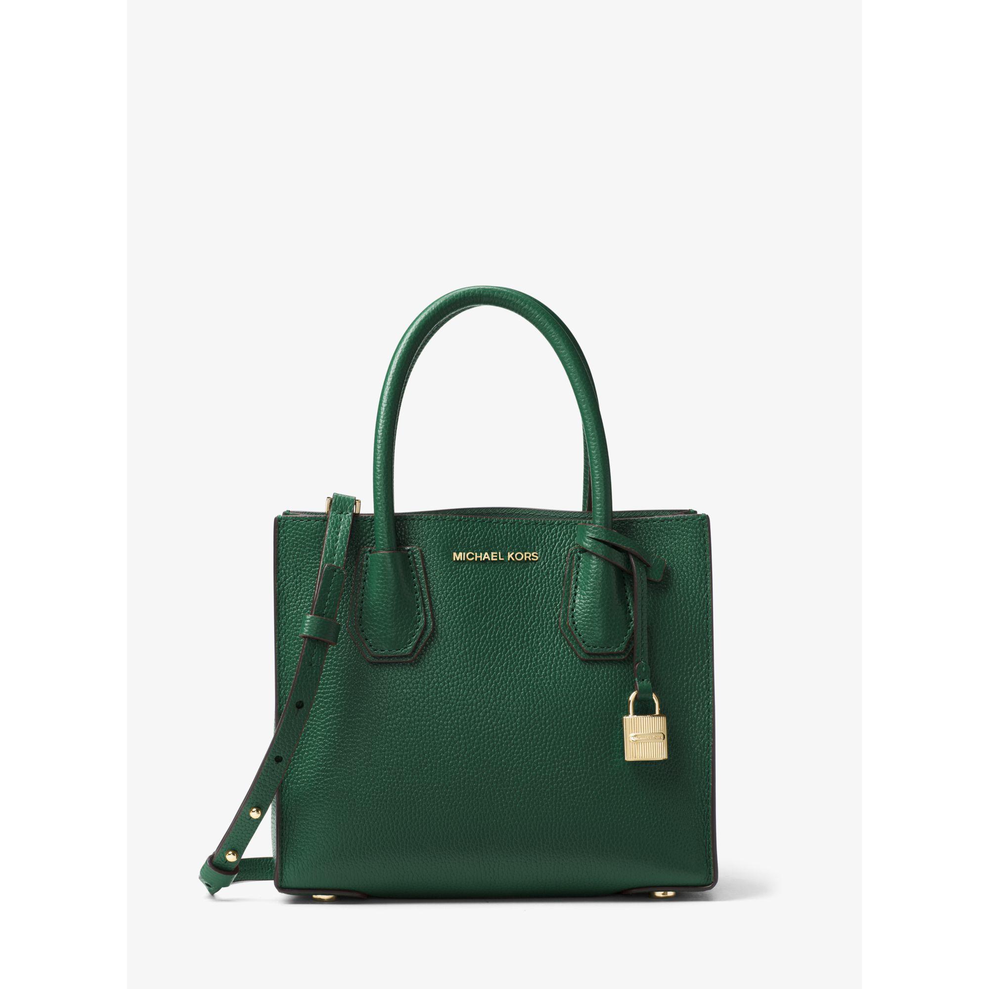 michael kors mercer medium leather bag in green lyst. Black Bedroom Furniture Sets. Home Design Ideas