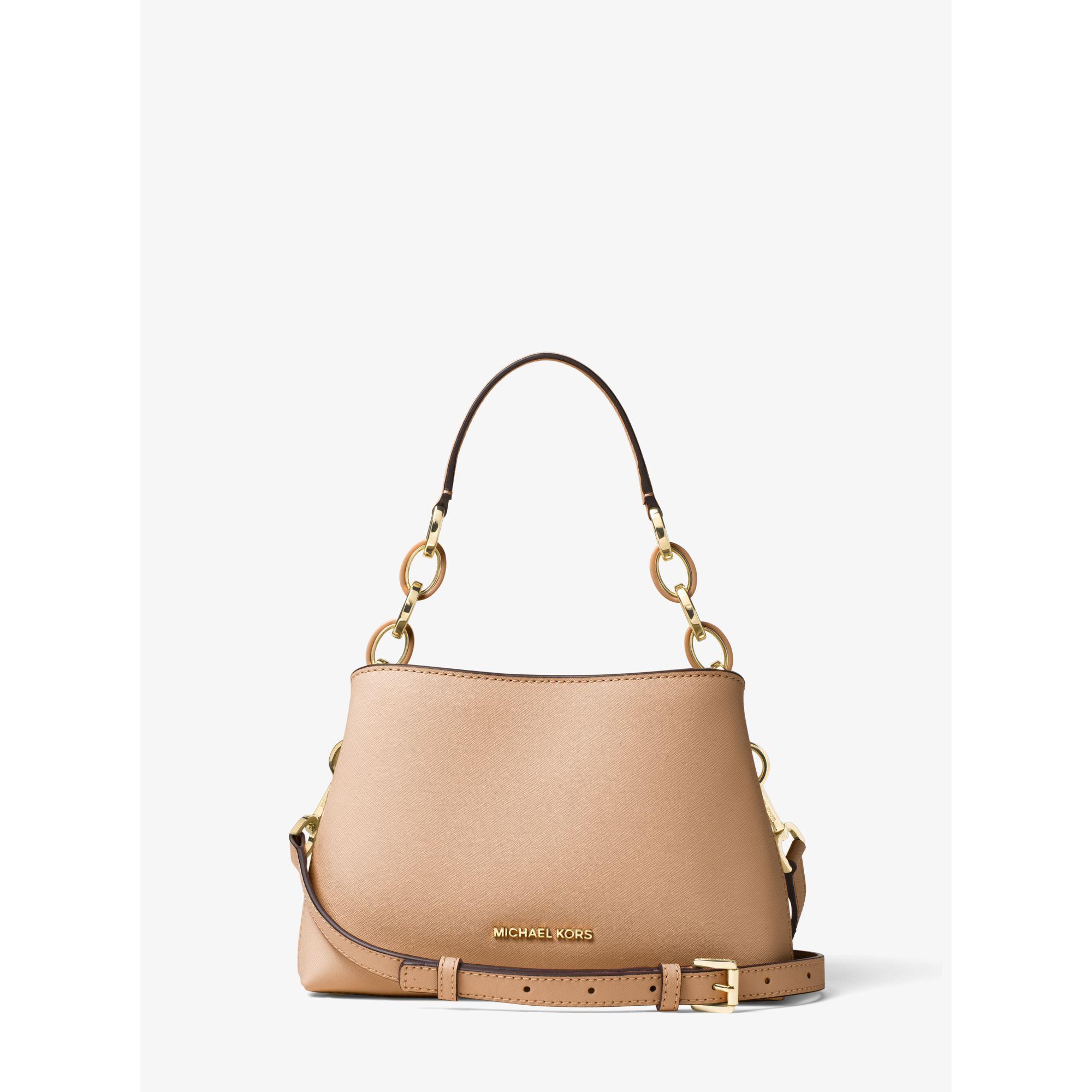 Michael Kors Portia Small Saffiano Leather Shoulder Bag In