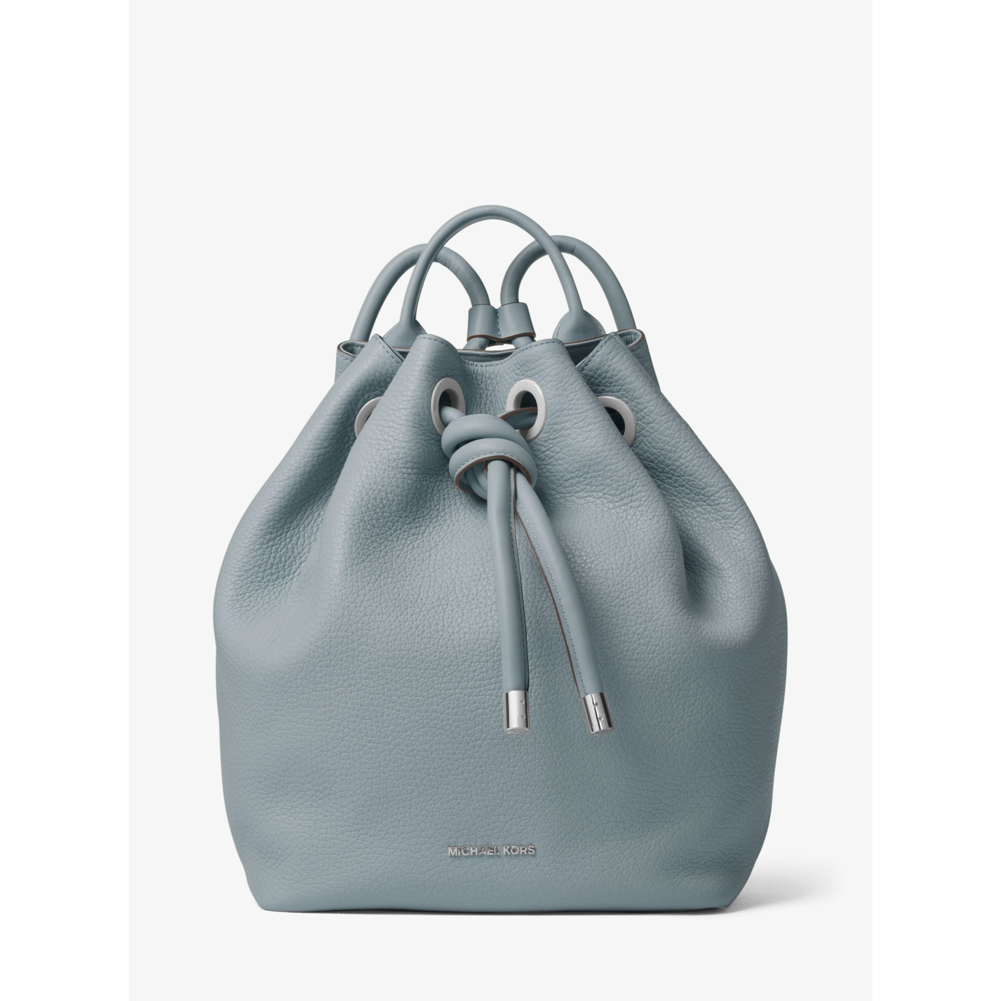 81bf957ab900 Lyst - Michael Kors Dalia Large Leather Backpack in Blue