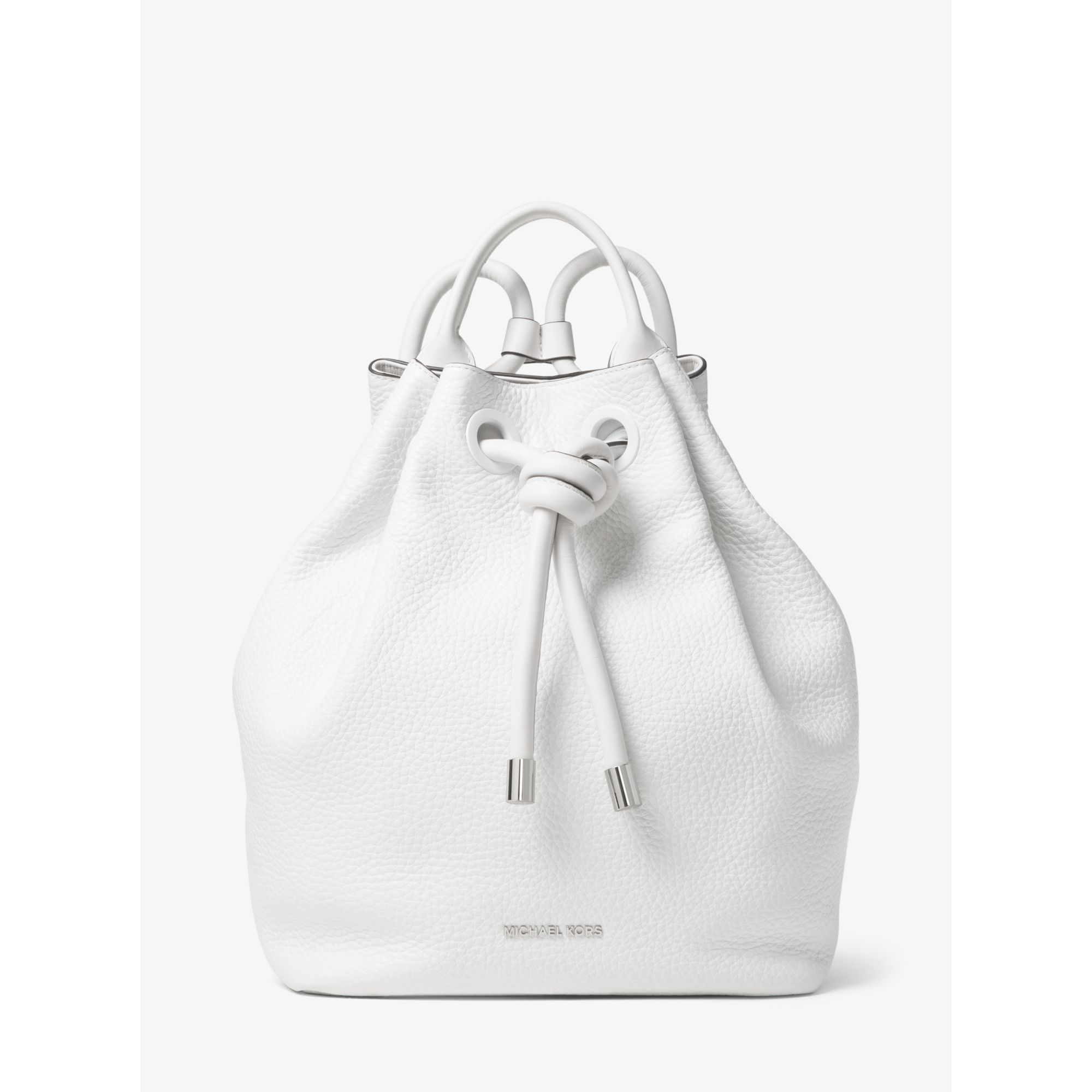 d24d2c56d557 sweden michael kors dalia large leather backpack in white lyst fe6be e2c8a