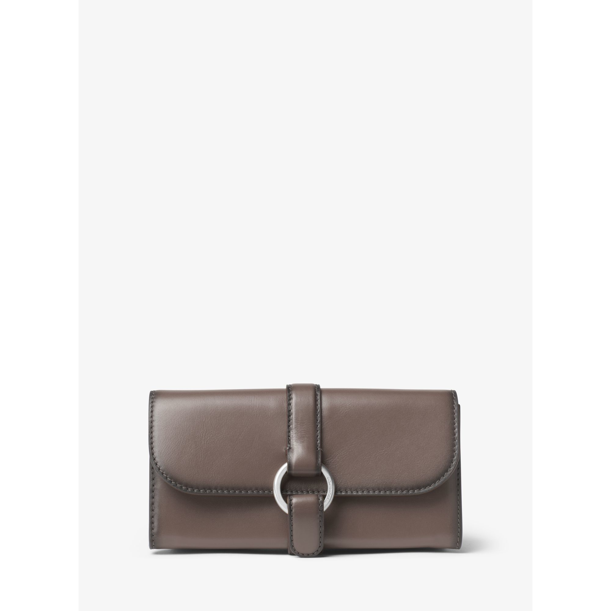 b16d70bc6b91ff Michael Kors Quincy Large Leather Wallet in Brown - Lyst