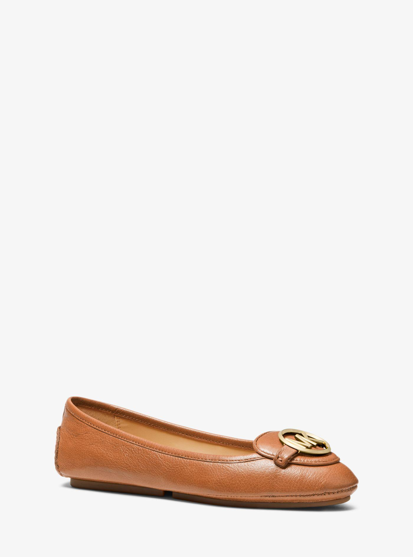 Michael Kors Lillie Leather Moccasin - Lyst