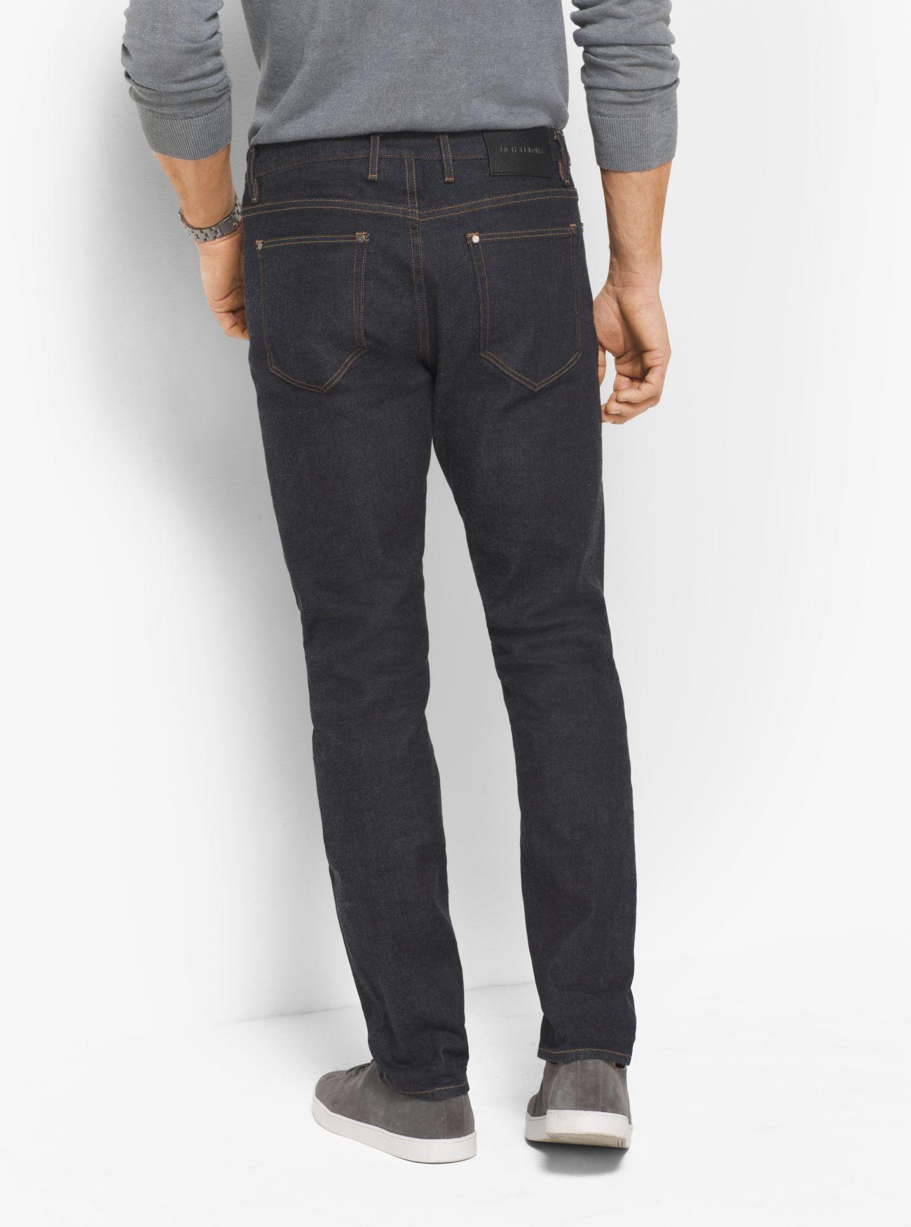 Michael Kors Denim Slim-fit Selvedge Jeans in Blue for Men