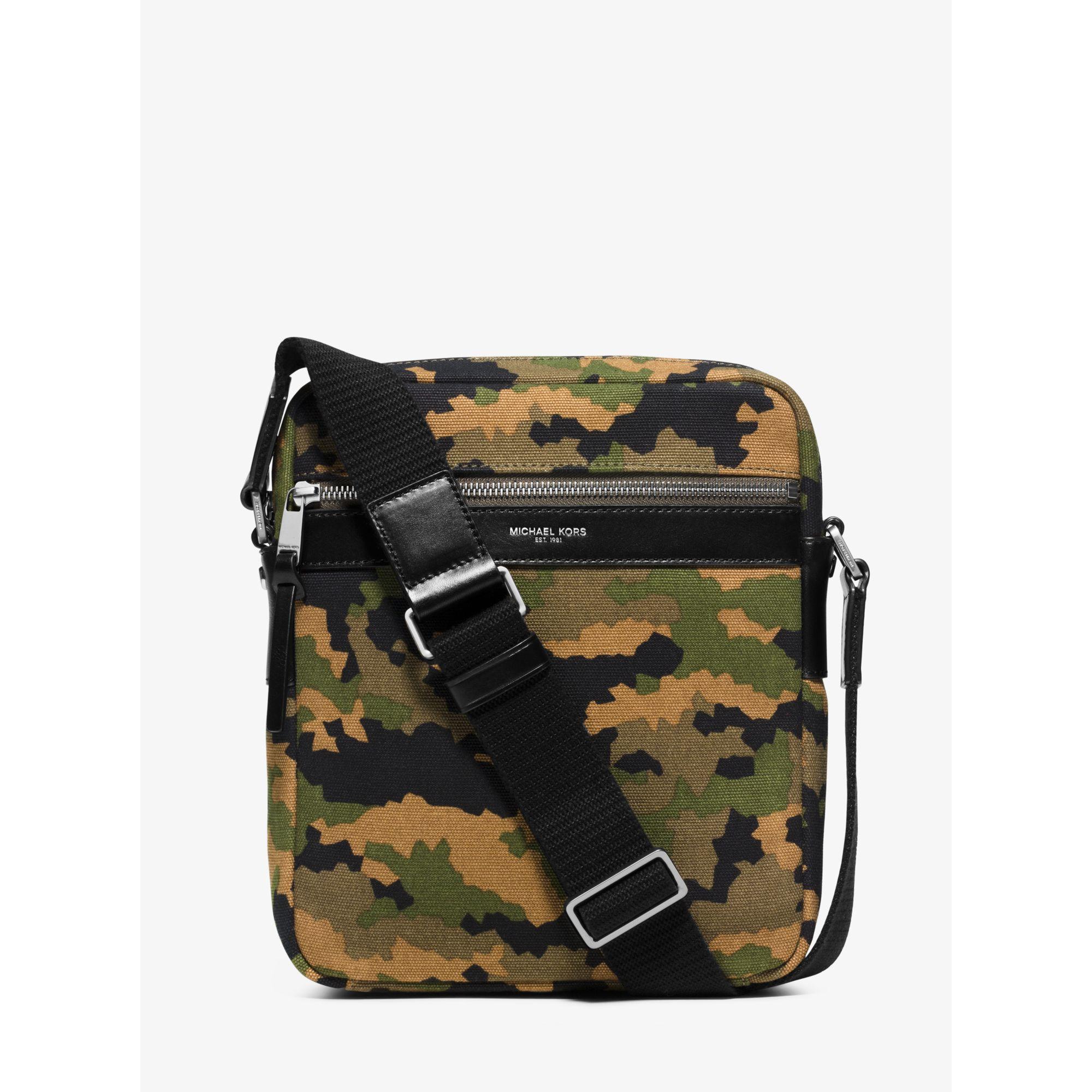 571426d58ff0 Lyst - Michael Kors Grant Medium Camouflage Bonded-canvas Flight Bag ...