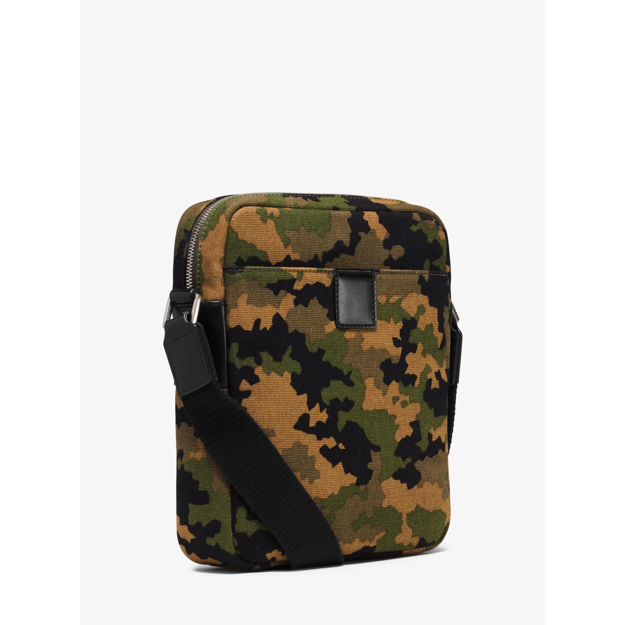 880faa11907e Lyst - Michael Kors Grant Medium Camouflage Bonded-canvas Flight Bag for Men
