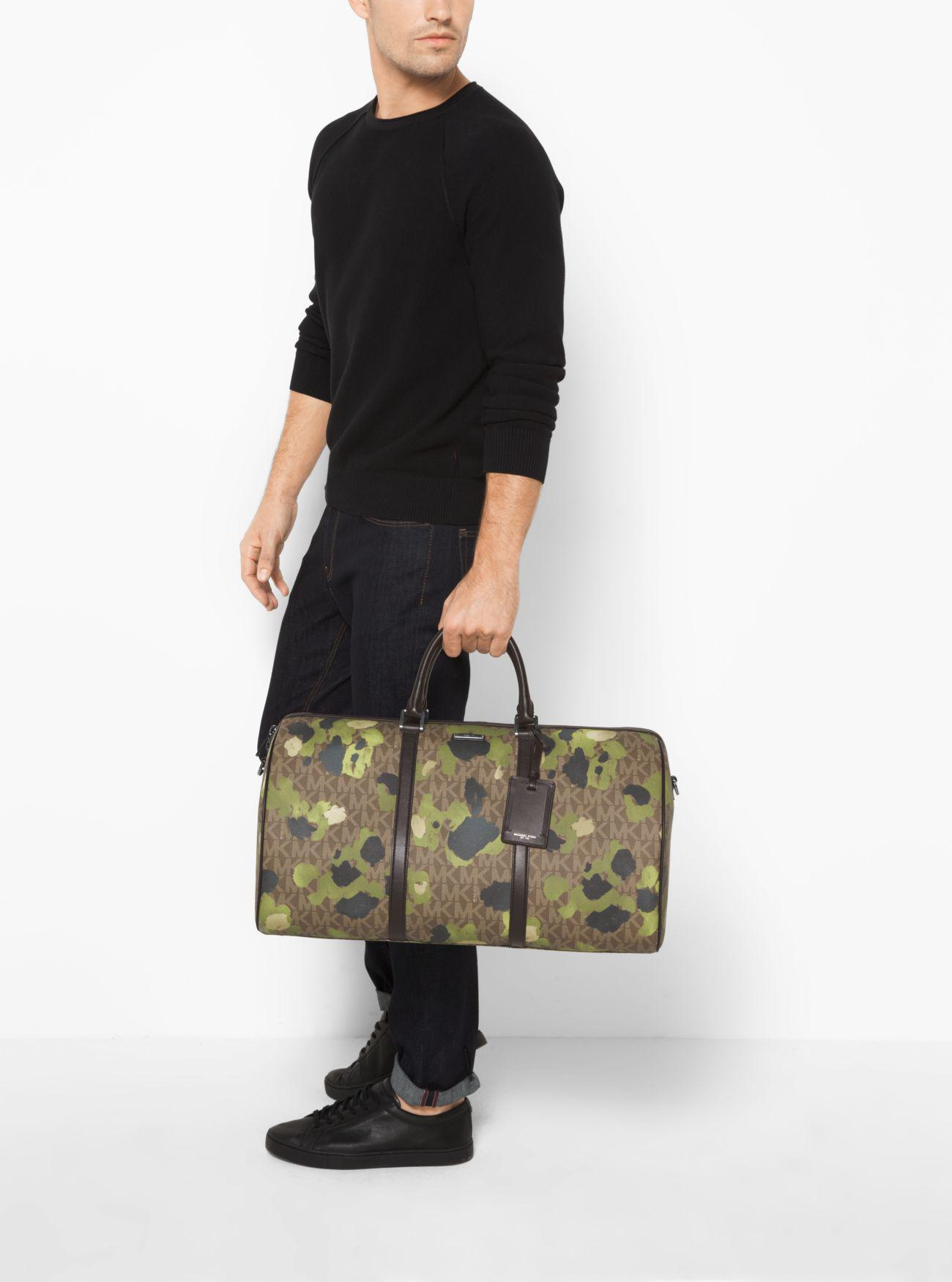 d377dee1609a Michael Kors Jet Set Painterly Camo Large Duffel Bag for Men - Lyst
