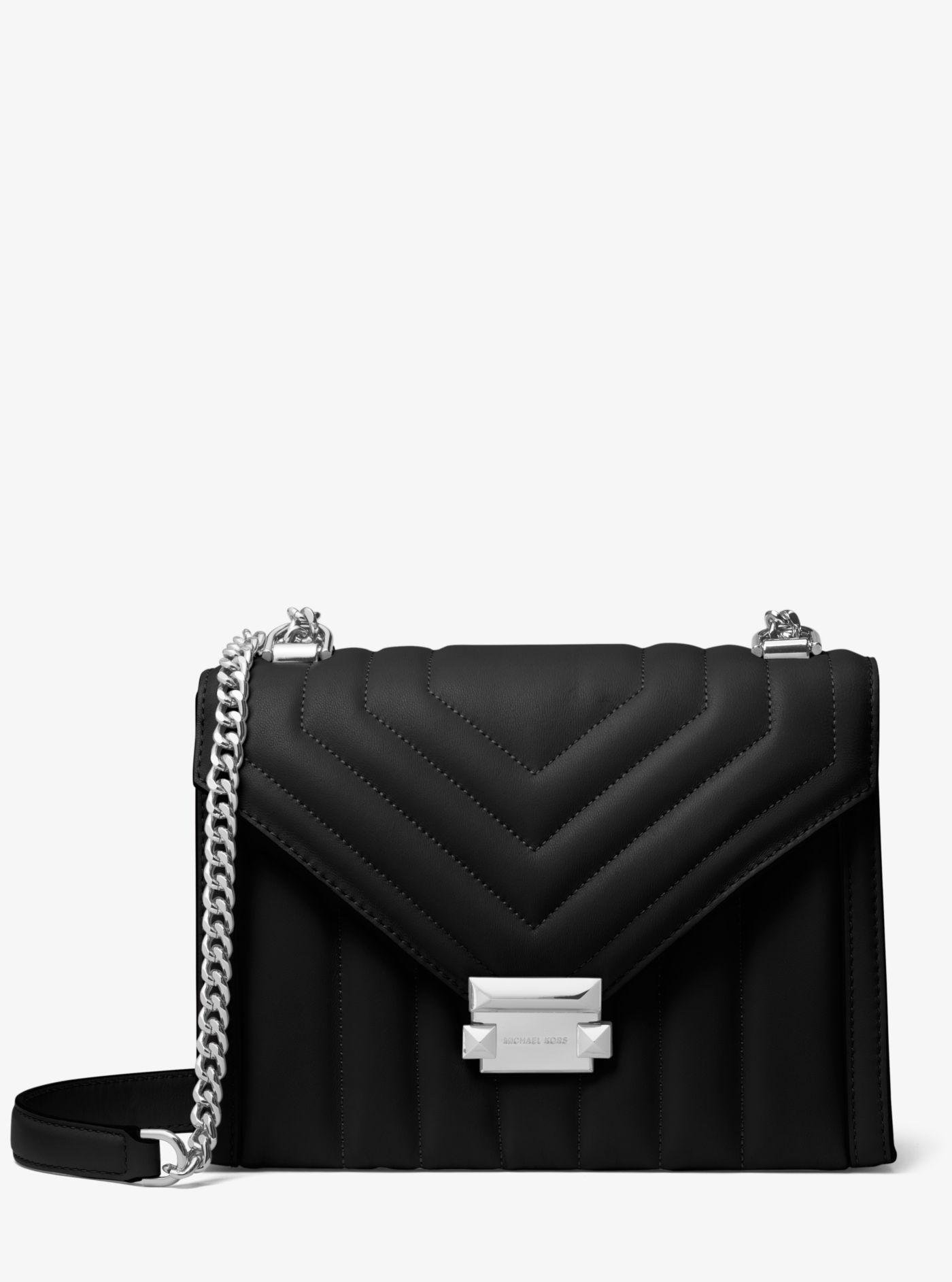 6d0aa2e2ad17 Michael Kors. Women s Black Michael Whitney Quilted Leather Shoulder Bag