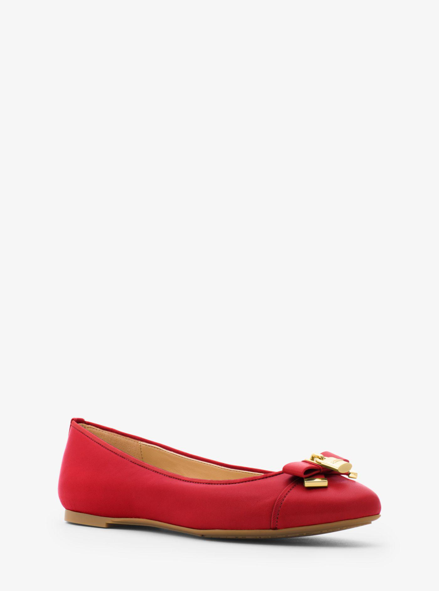 Michael Kors Alice Leather Ballet Flat
