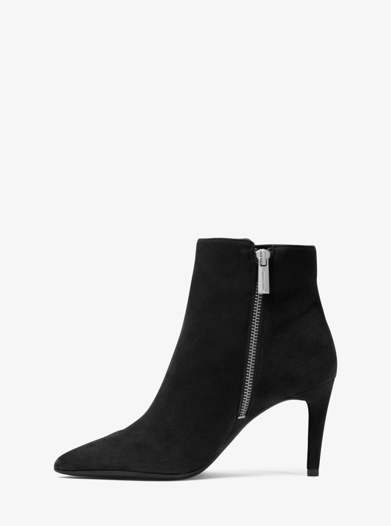 Michael Kors Dorothy Suede Ankle Boot in Black