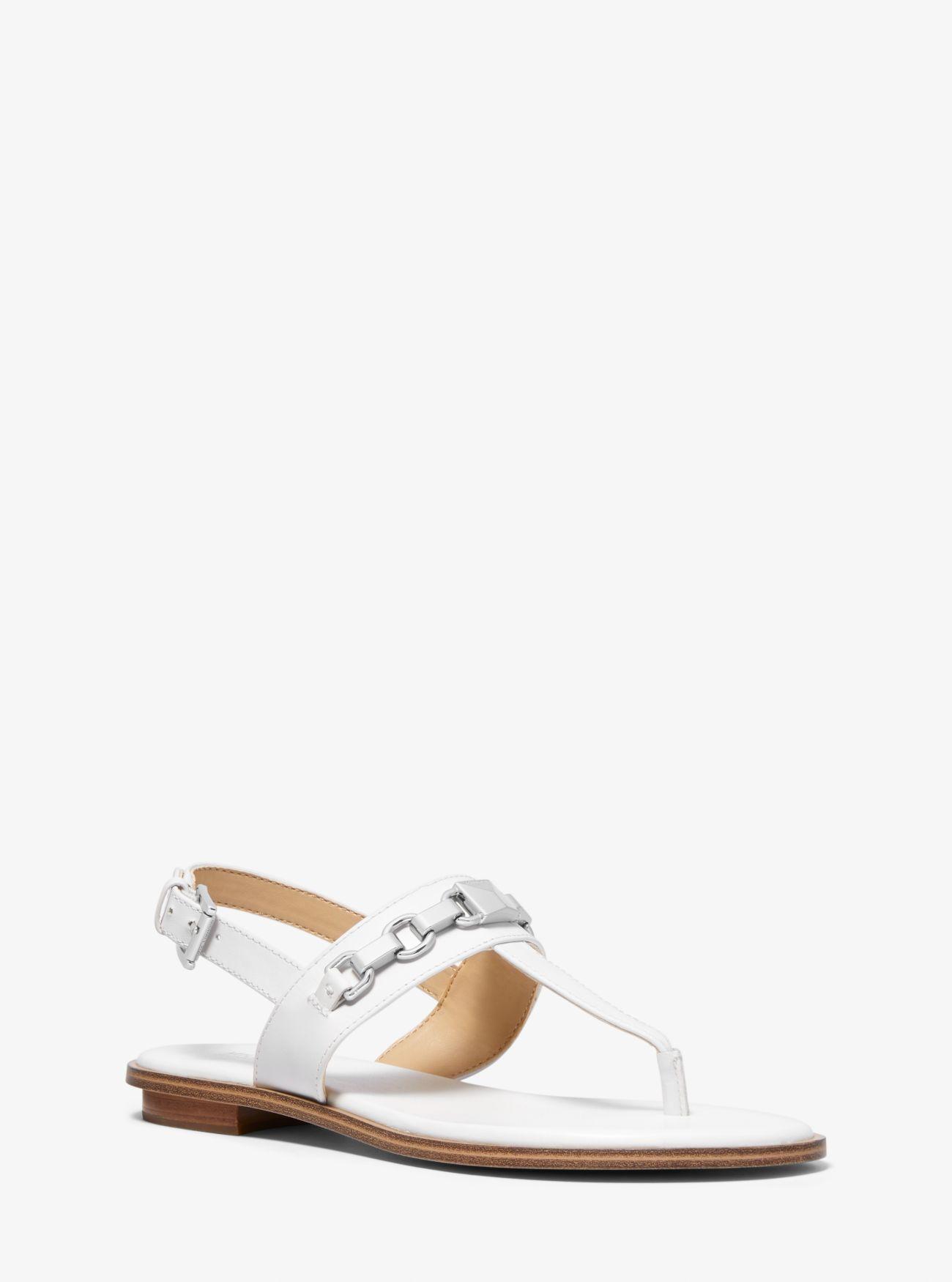 ba99cbb091f Lyst - MICHAEL Michael Kors Charlton Leather Sandal in White