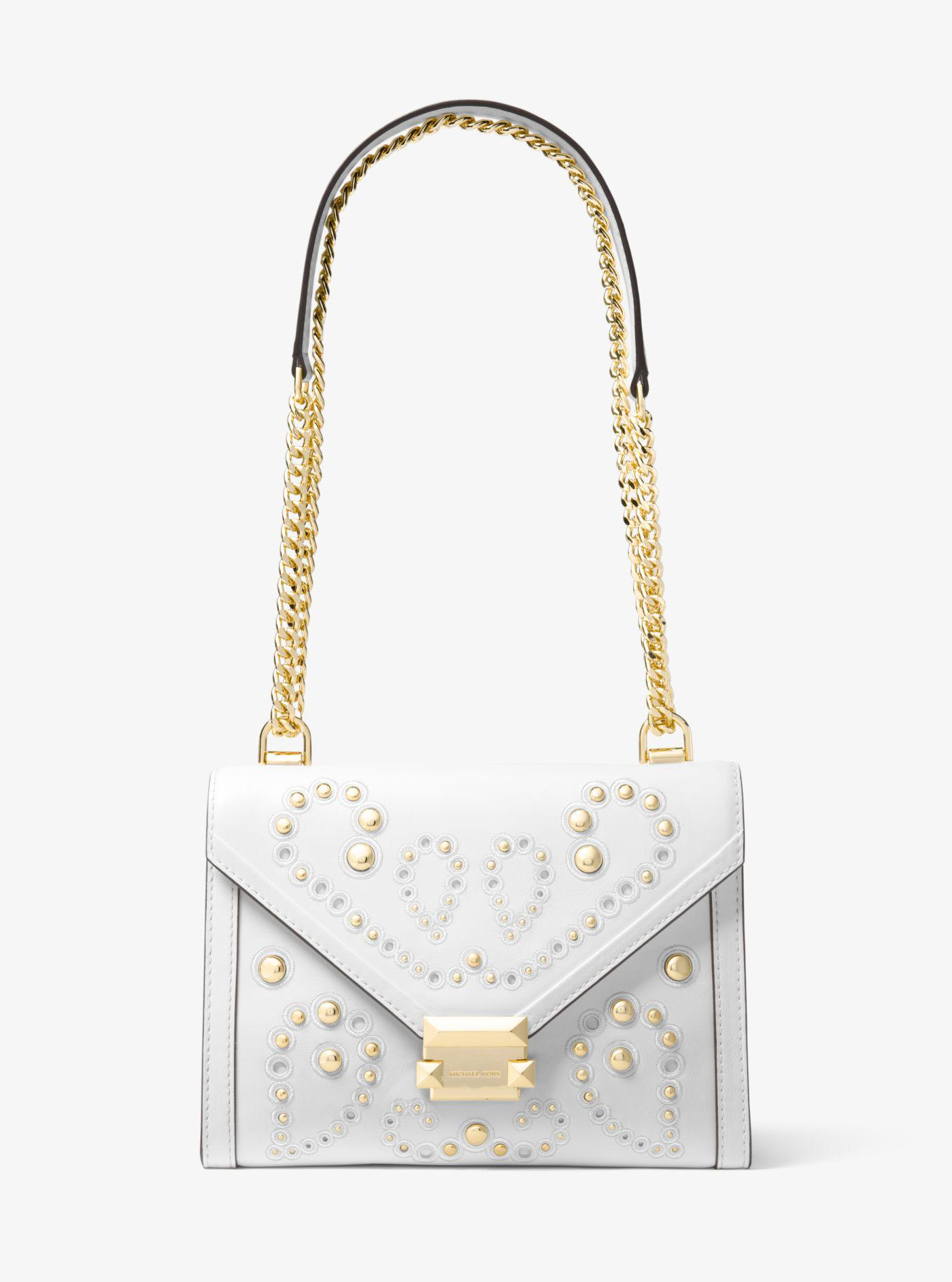 b813aa1ea45b Michael Kors Whitney Large Embellished Leather Convertible Shoulder ...