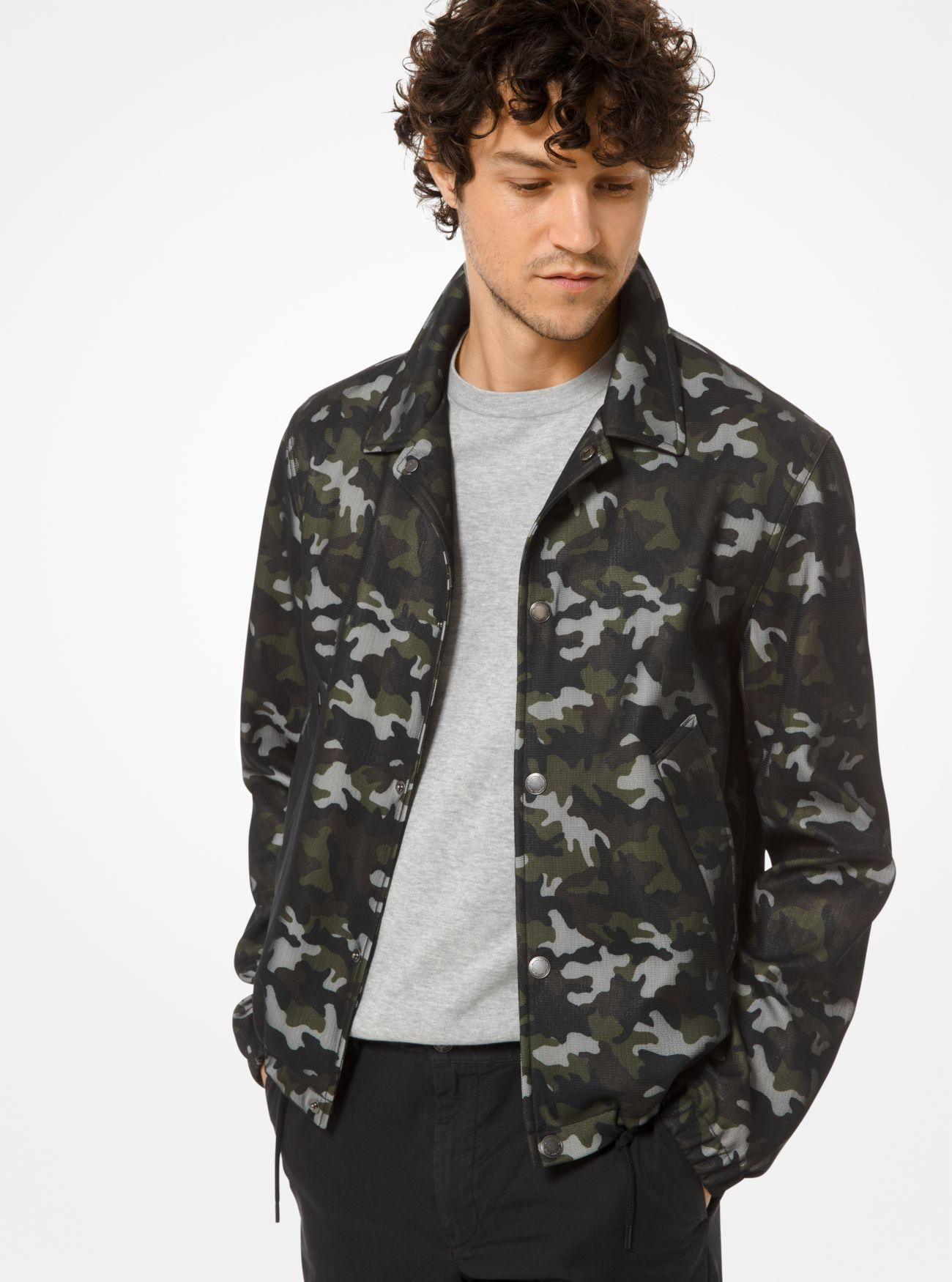 e8ec18907a98 Lyst - Michael Kors Camouflage Jacket in Green for Men