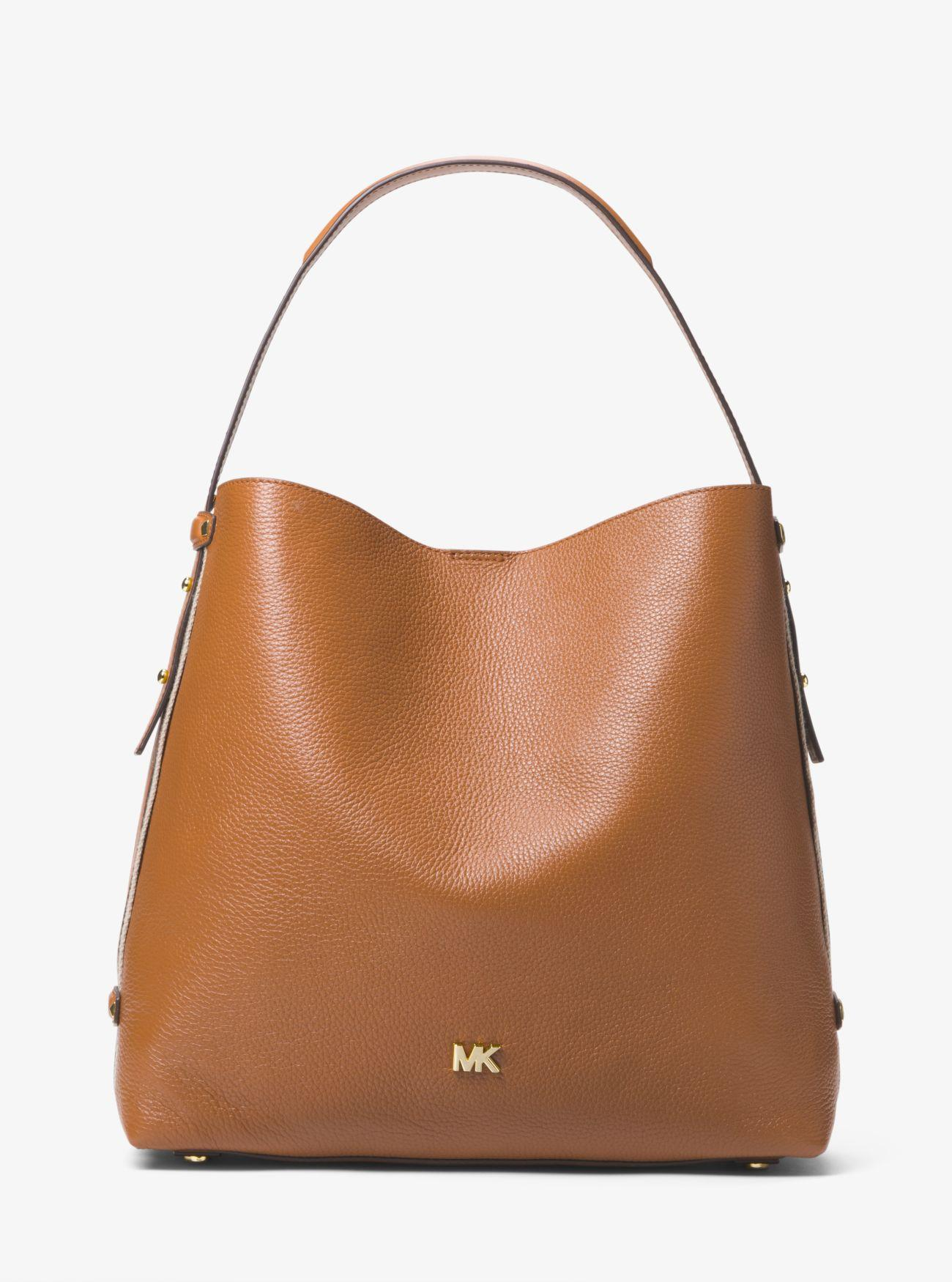 2c4860c81f89 Michael Kors Griffin Large Leather Shoulder Bag in Brown - Lyst