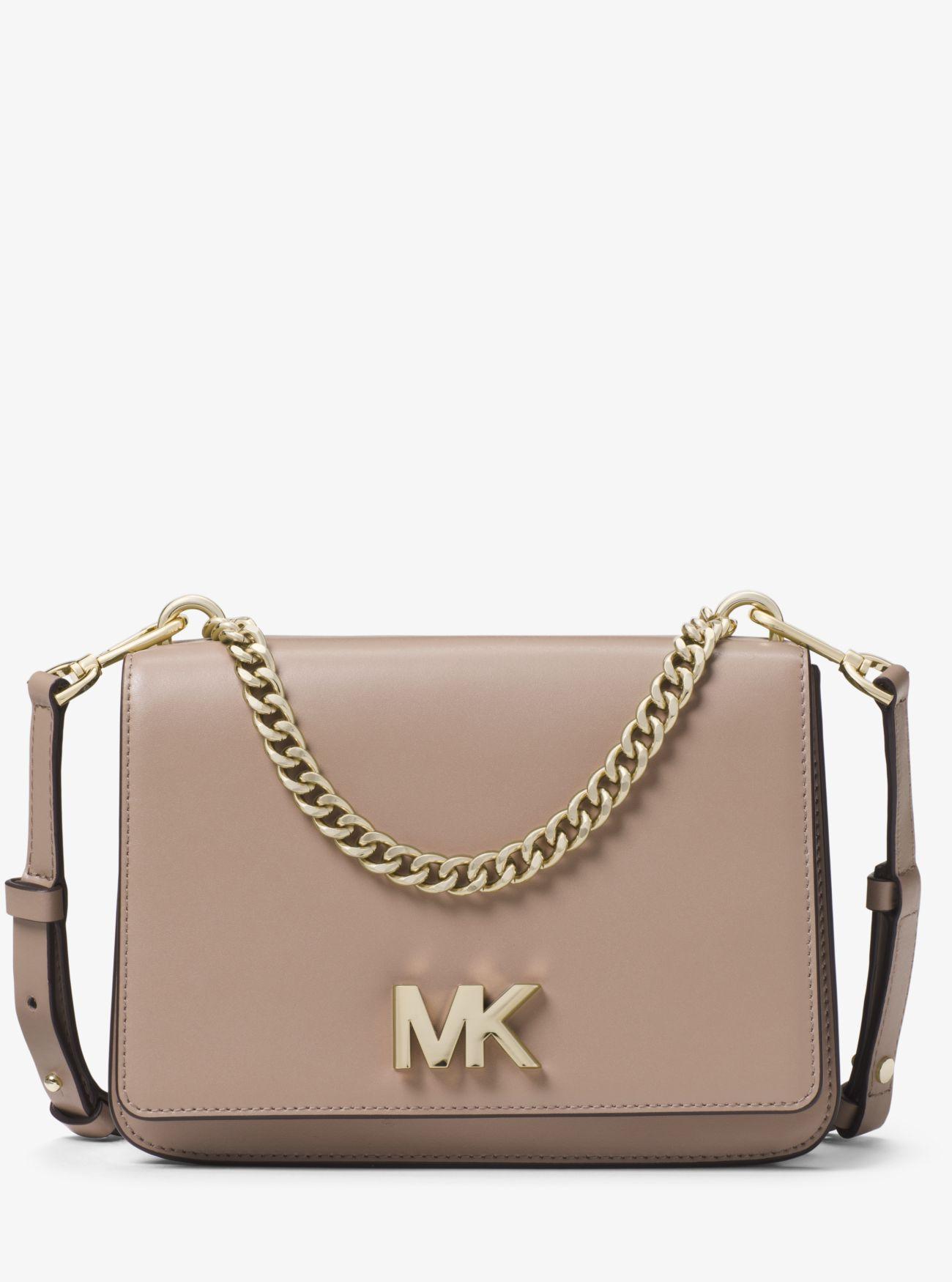 579368c7416d91 Michael Kors Mott Large Leather Crossbody Bag - Save 55% - Lyst