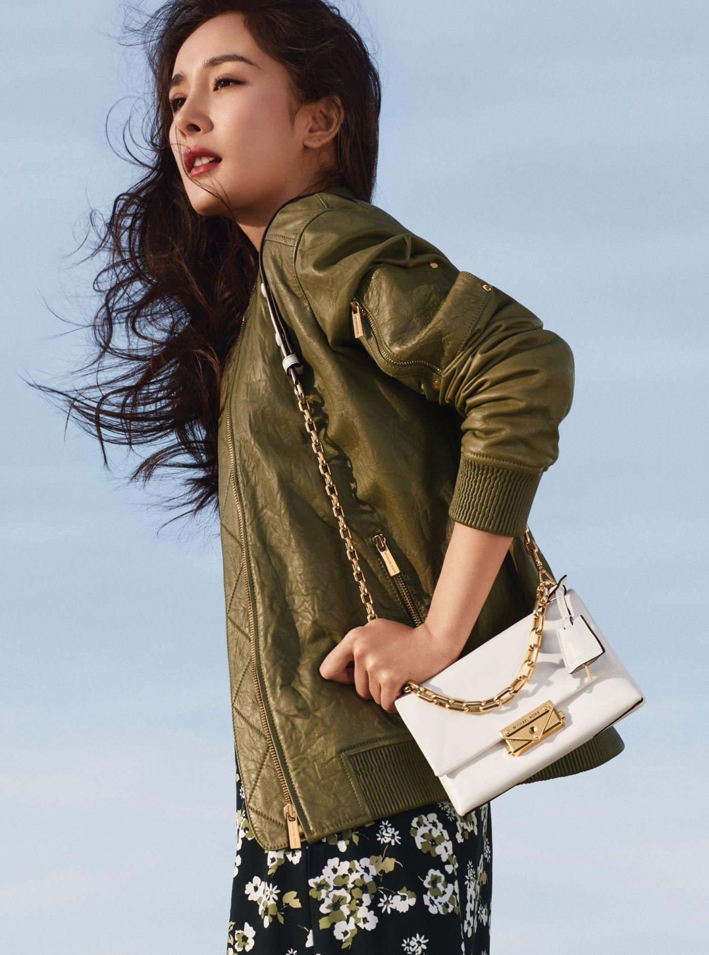 Michael Kors Cece Extra Small Leather Crossbody Bag In