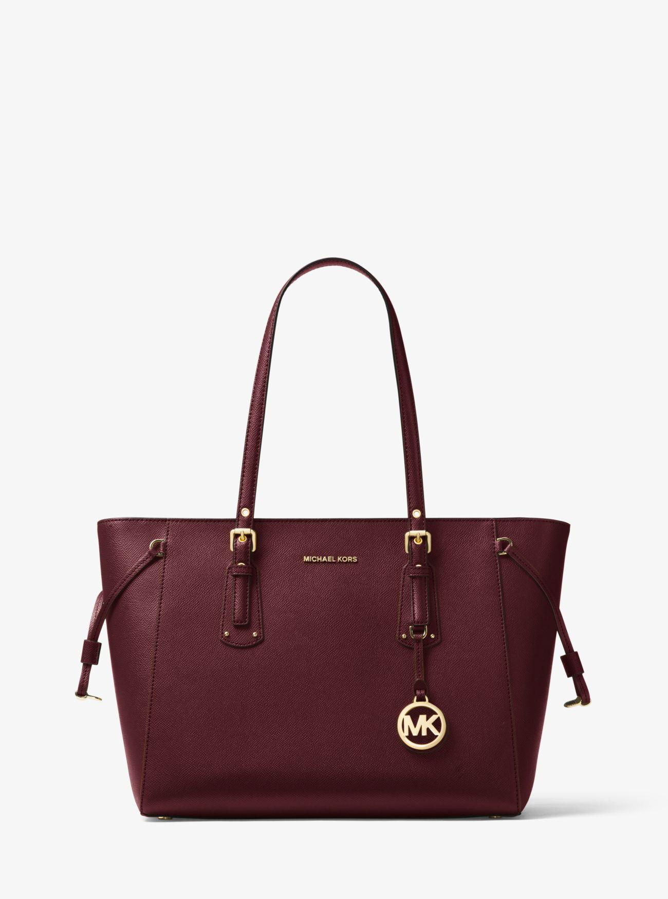 86f4d3f56ad5af Michael Kors - Multicolor Voyager Medium Crossgrain Leather Tote Bag - Lyst.  View fullscreen