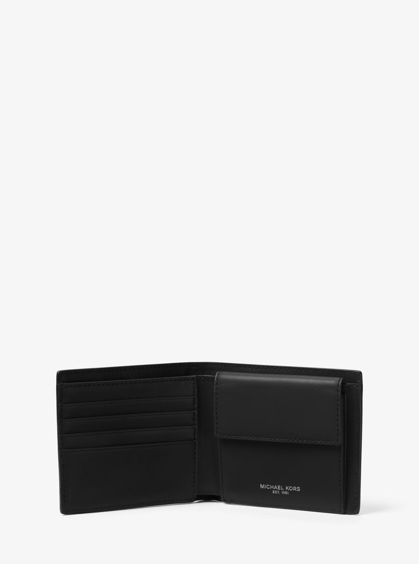 d7f9acc9cace Michael Kors Odin Leather Billfold Wallet In Black For Men Lyst