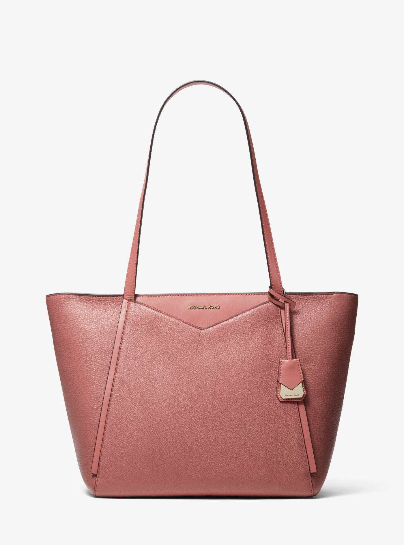 7b1e18c2e4ab Michael Kors - Multicolor Whitney Large Pebbled Leather Tote - Lyst. View  fullscreen